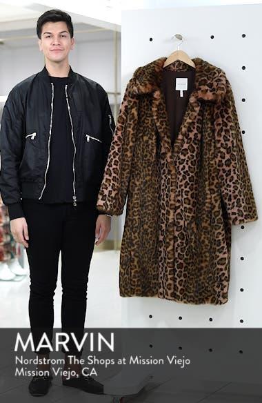 Leopard Print Faux Fur Car Coat, sales video thumbnail