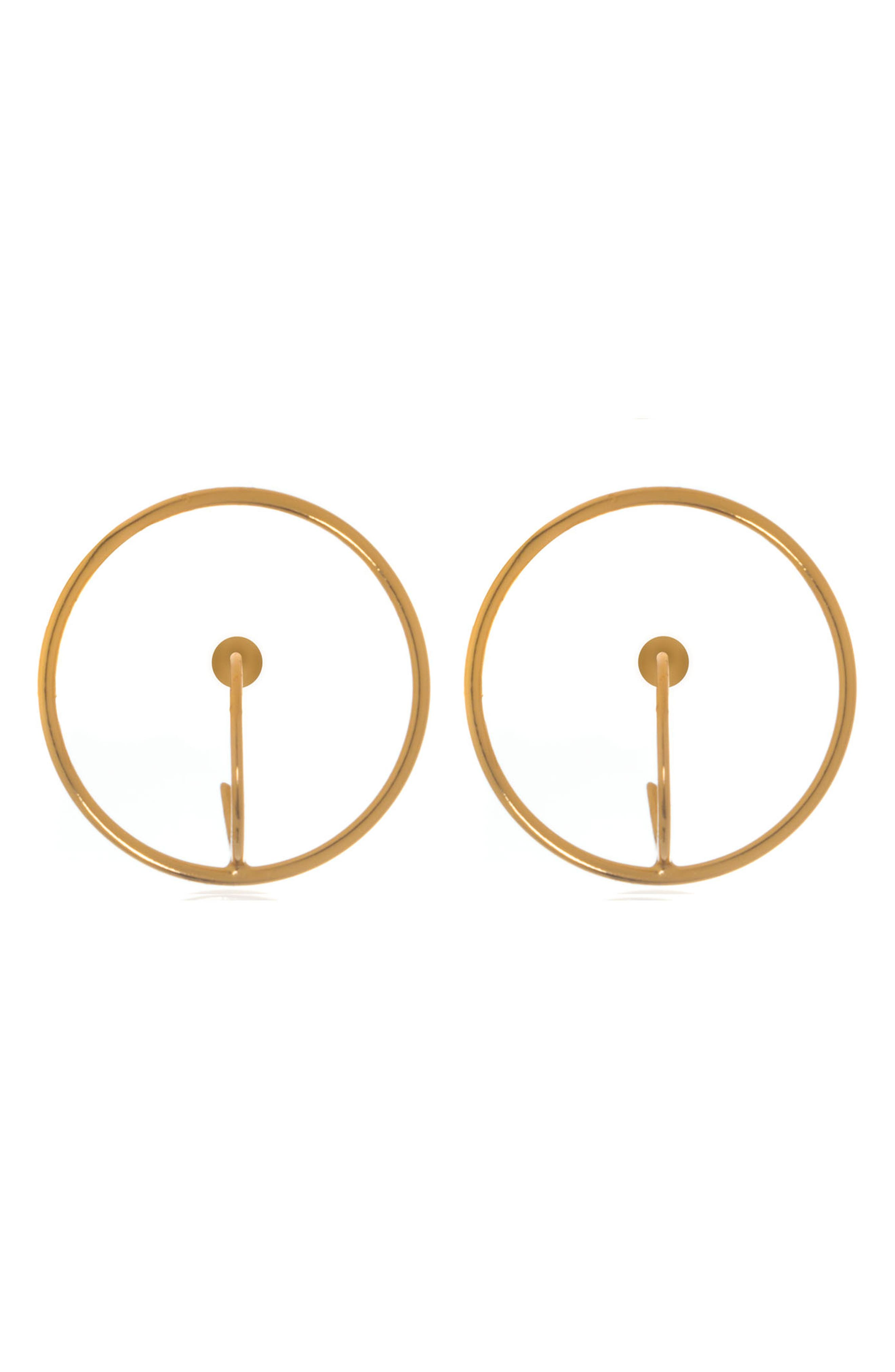 Circle Drop Earrings,                         Main,                         color, GOLD