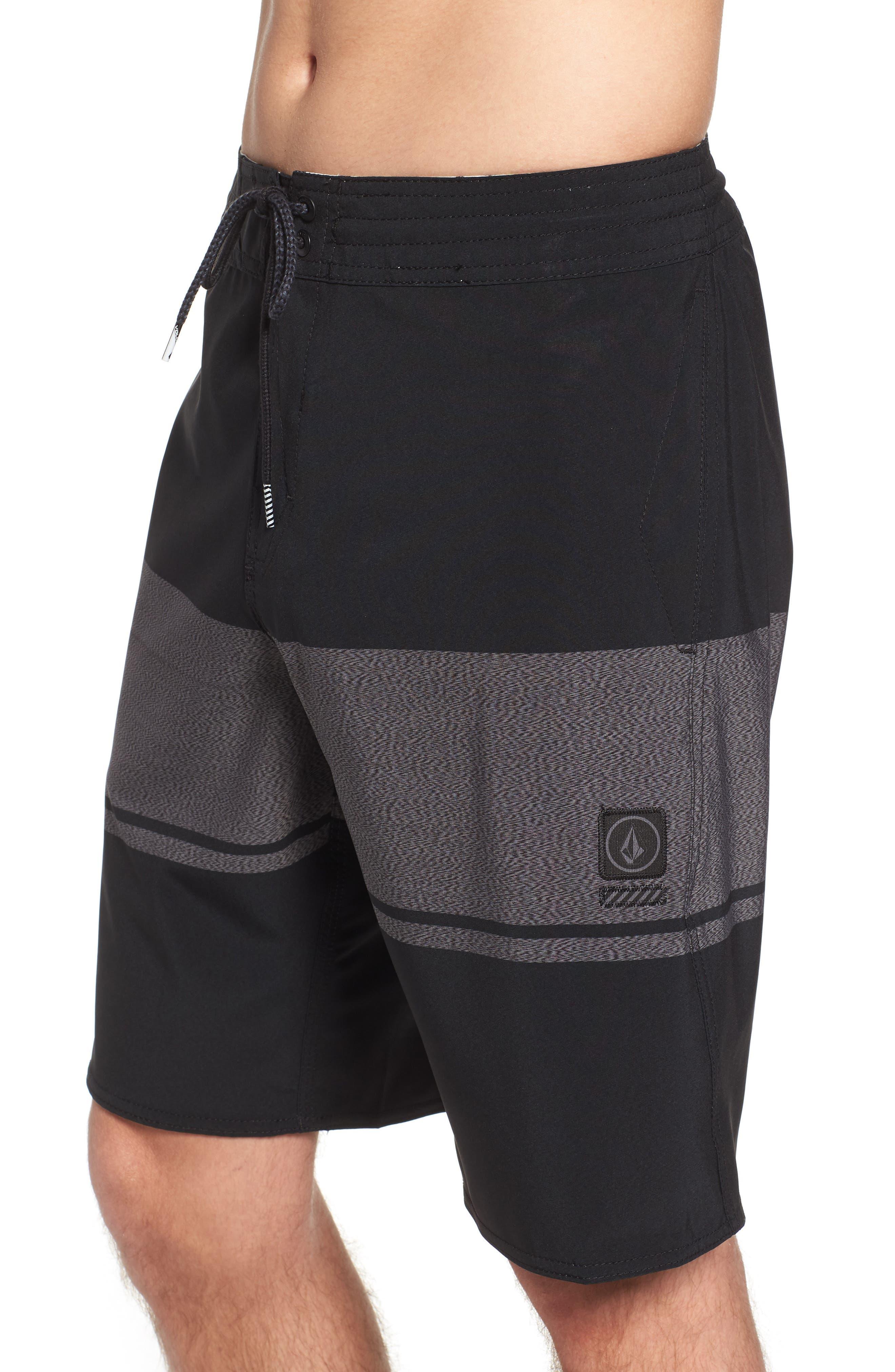 Quarter Static Stoney Board Shorts,                             Alternate thumbnail 4, color,                             BLACK