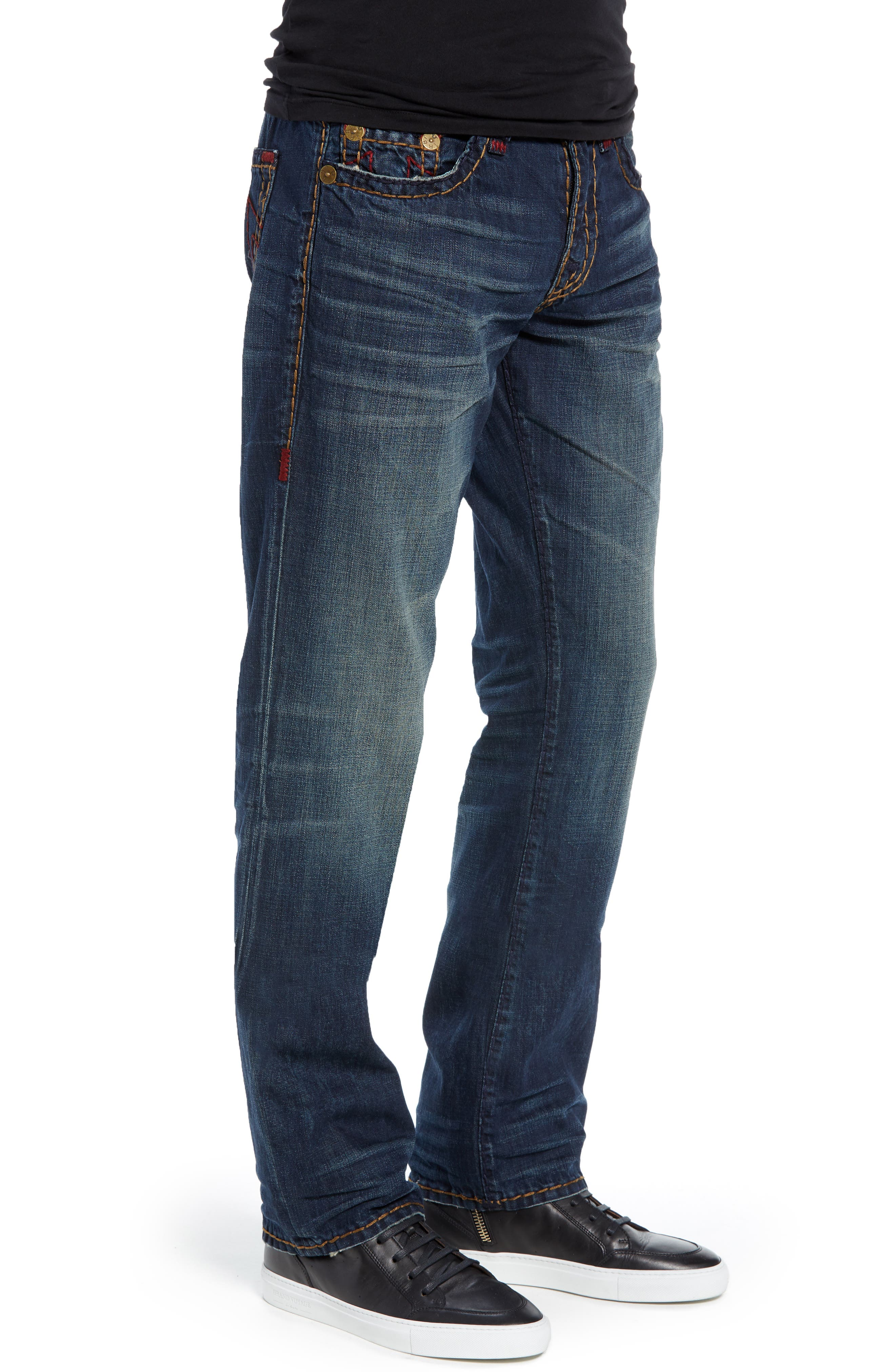 Ricky Skinny Fit Jeans,                             Alternate thumbnail 3, color,                             DARK MONORAIL