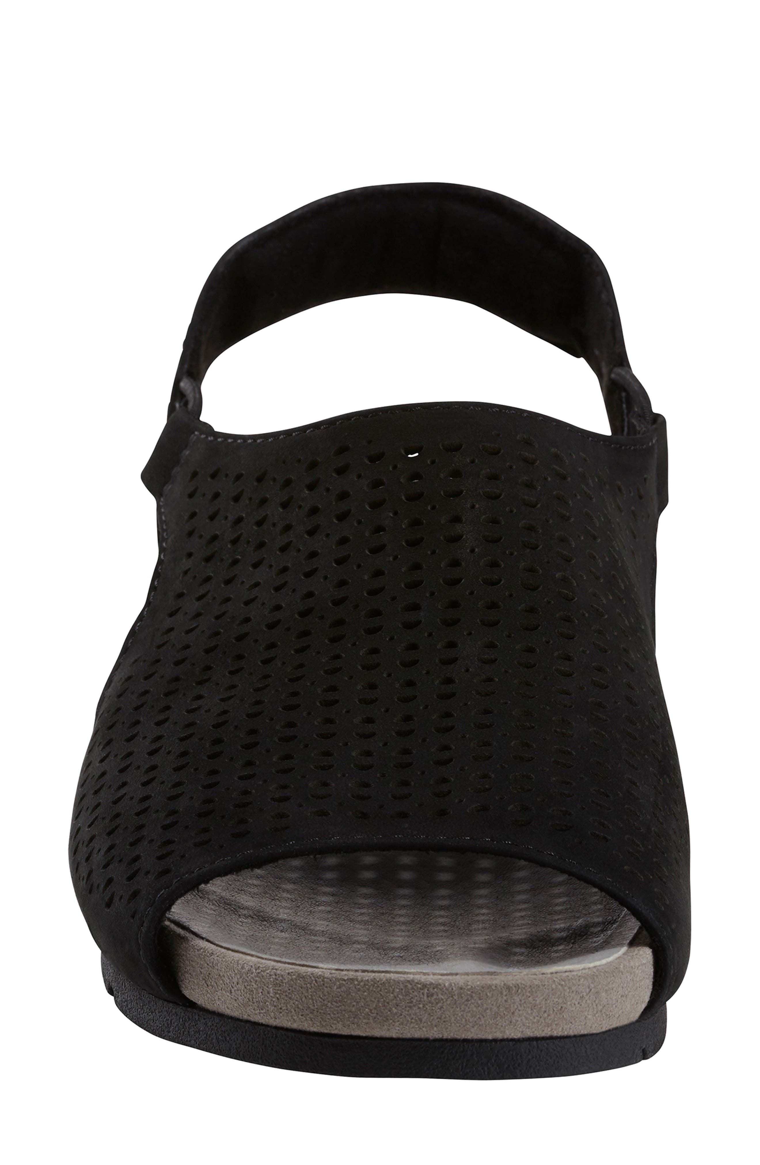 EARTH<SUP>®</SUP>,                             Laveen Sandal,                             Alternate thumbnail 4, color,                             BLACK LEATHER