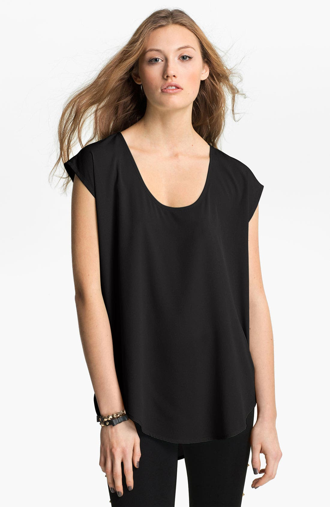 Oversize Woven Tee,                         Main,                         color, 001