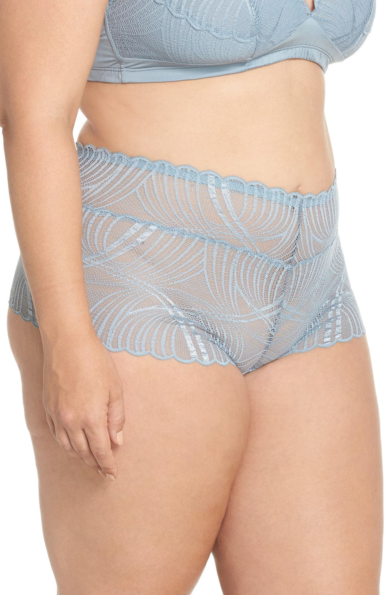 Minoa Naughtie Open Gusset Boyshorts,                             Alternate thumbnail 11, color,