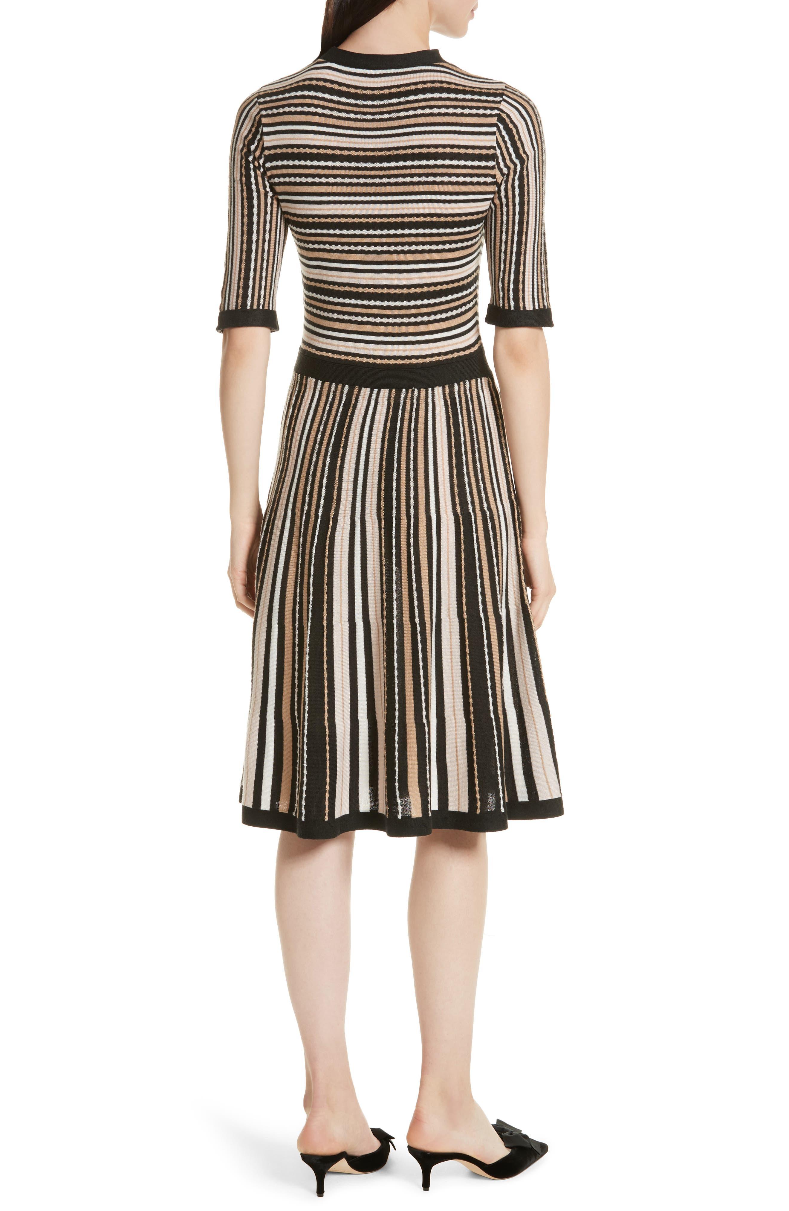 stripe sweater dress,                             Alternate thumbnail 2, color,                             677