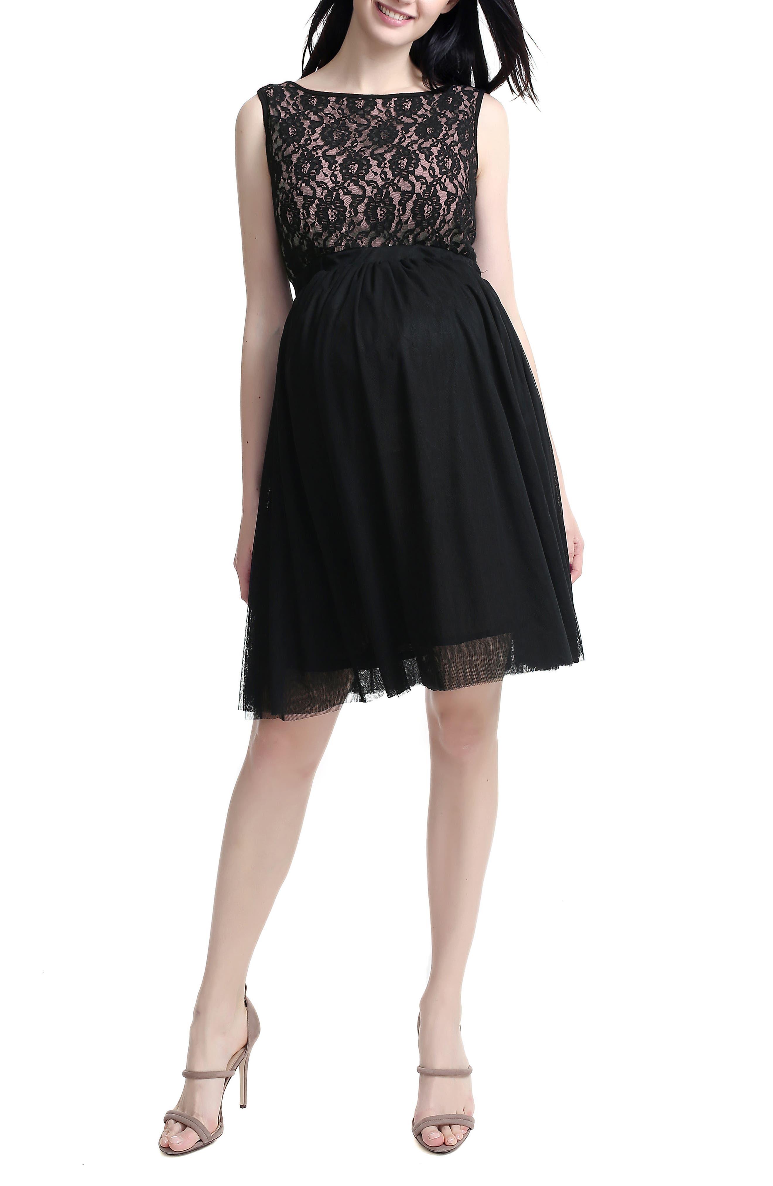 Kimi And Kai Camilla Lace & Tulle Maternity Dress