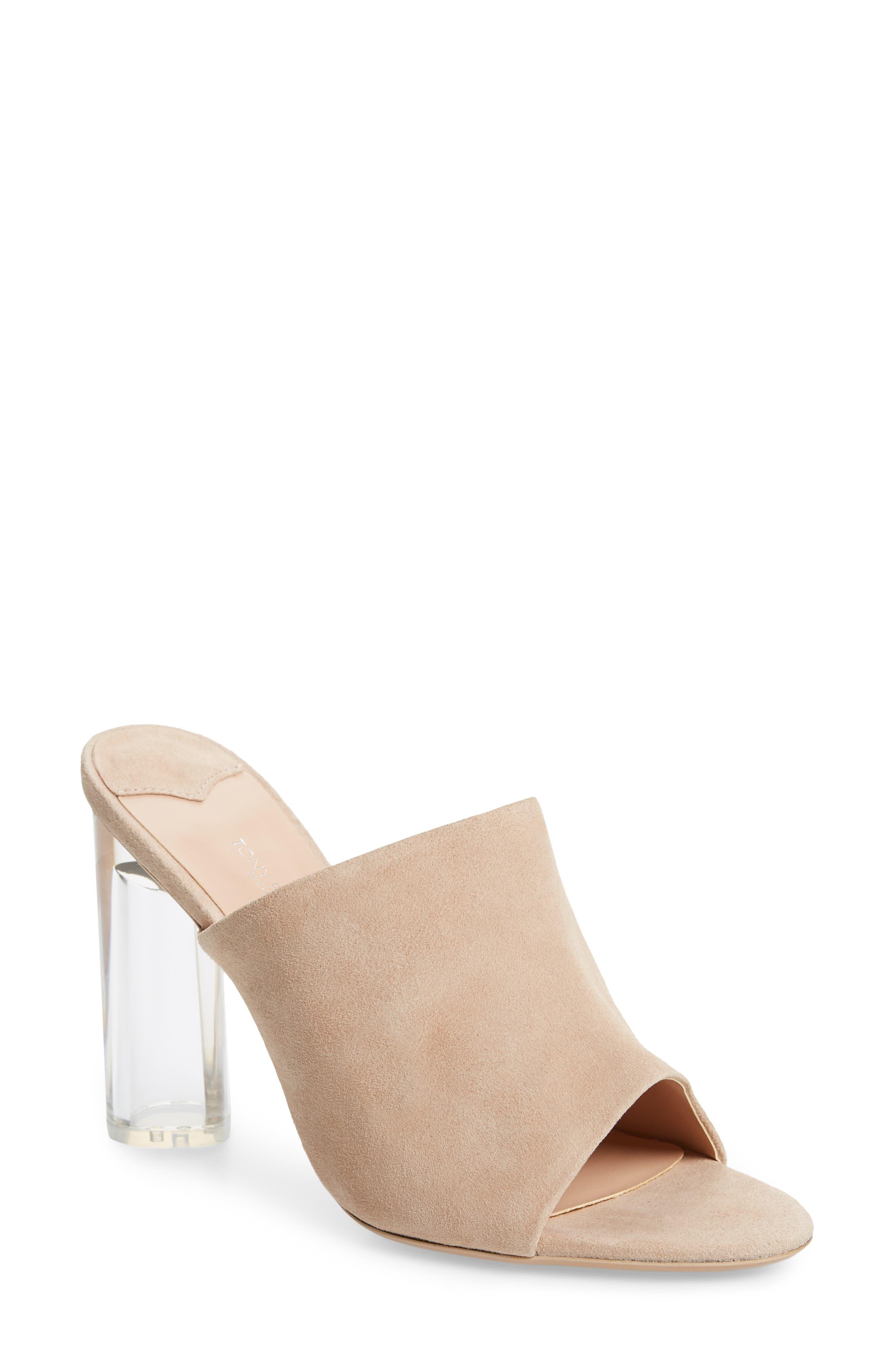 Tony Bianco Takoda Clear Heel Slide Sandal, Pink