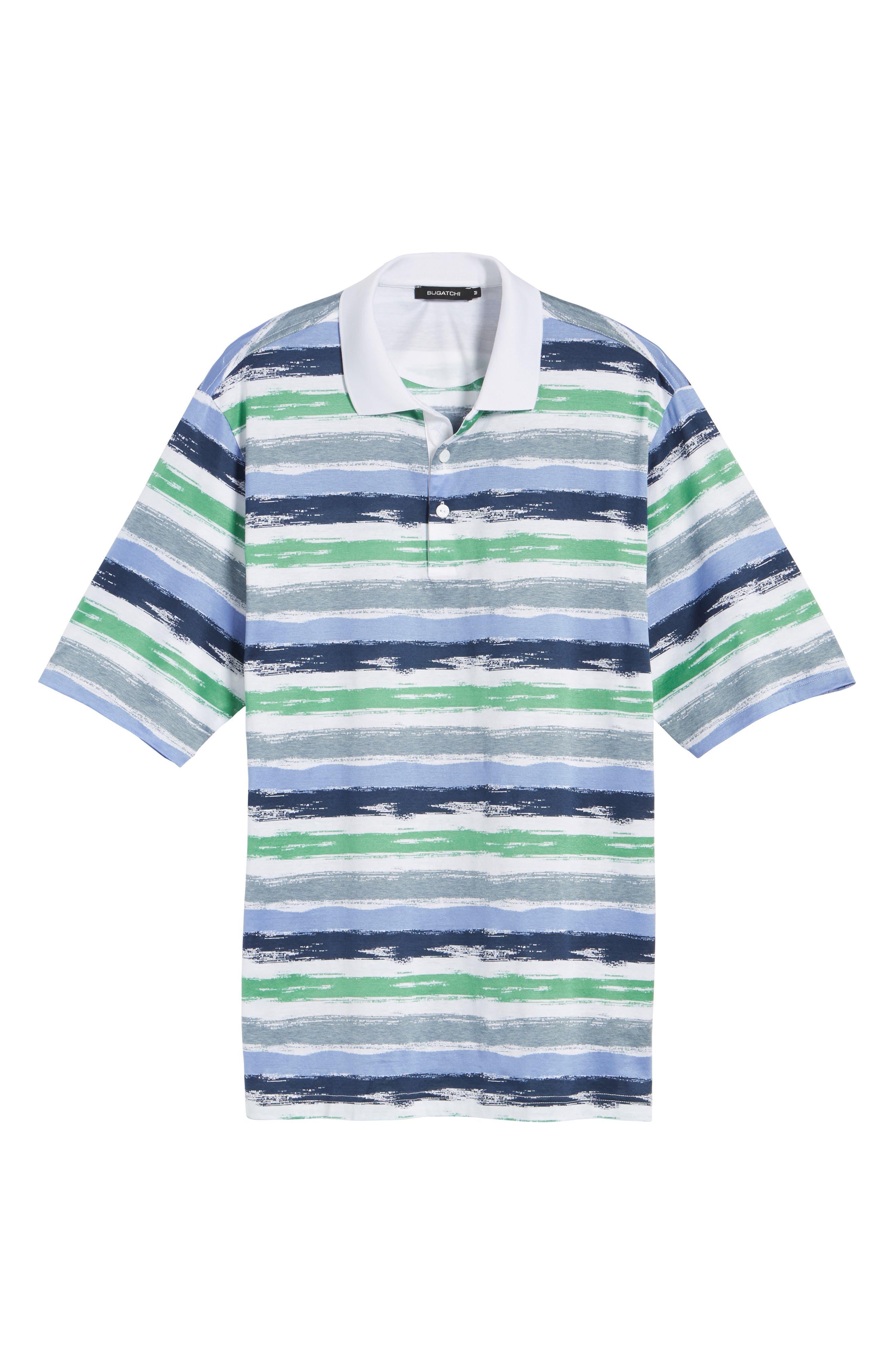 Brushstroke Stripe Polo,                             Alternate thumbnail 6, color,