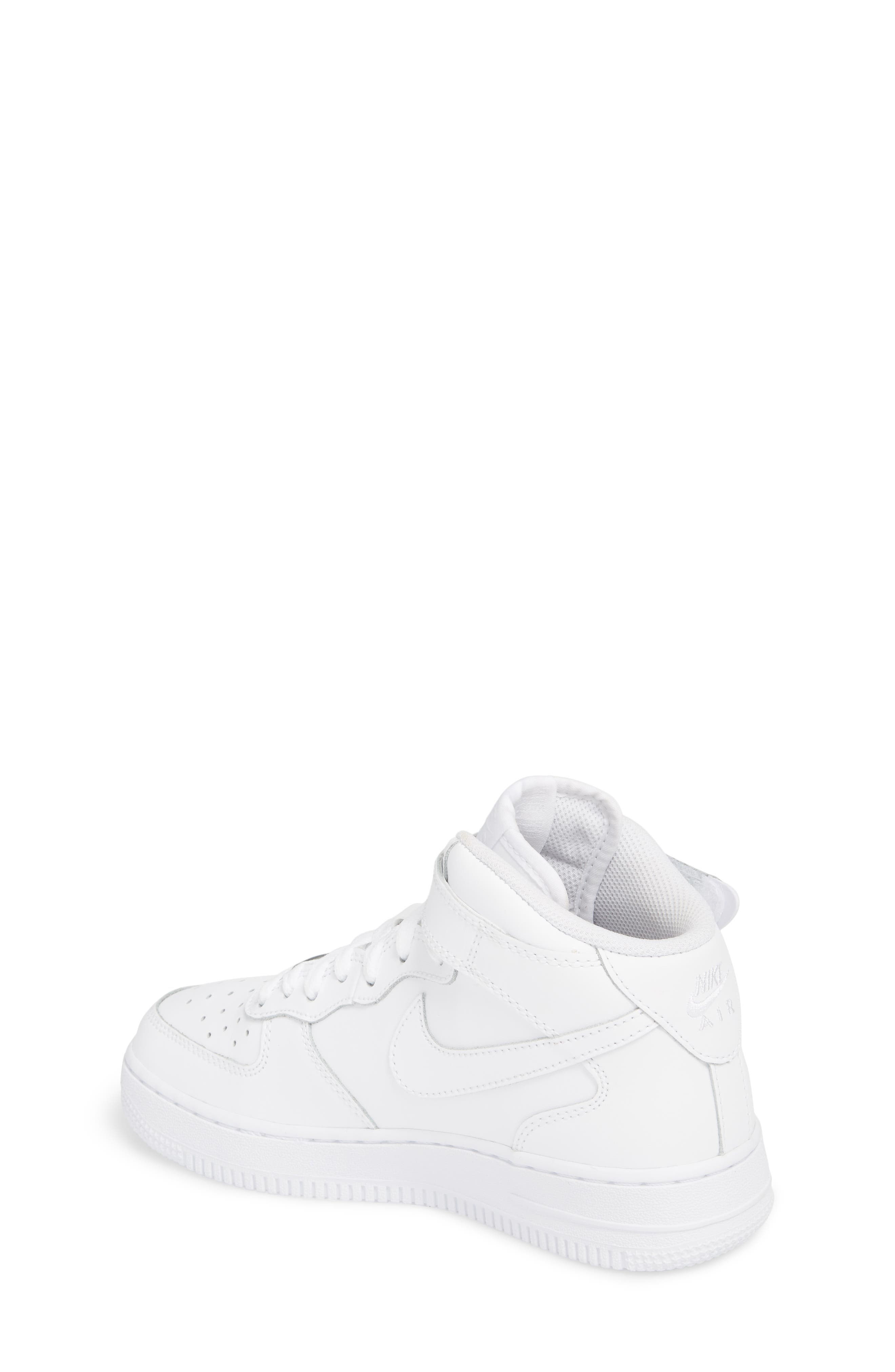 Air Force 1 Mid Top Sneaker,                             Alternate thumbnail 2, color,                             WHITE