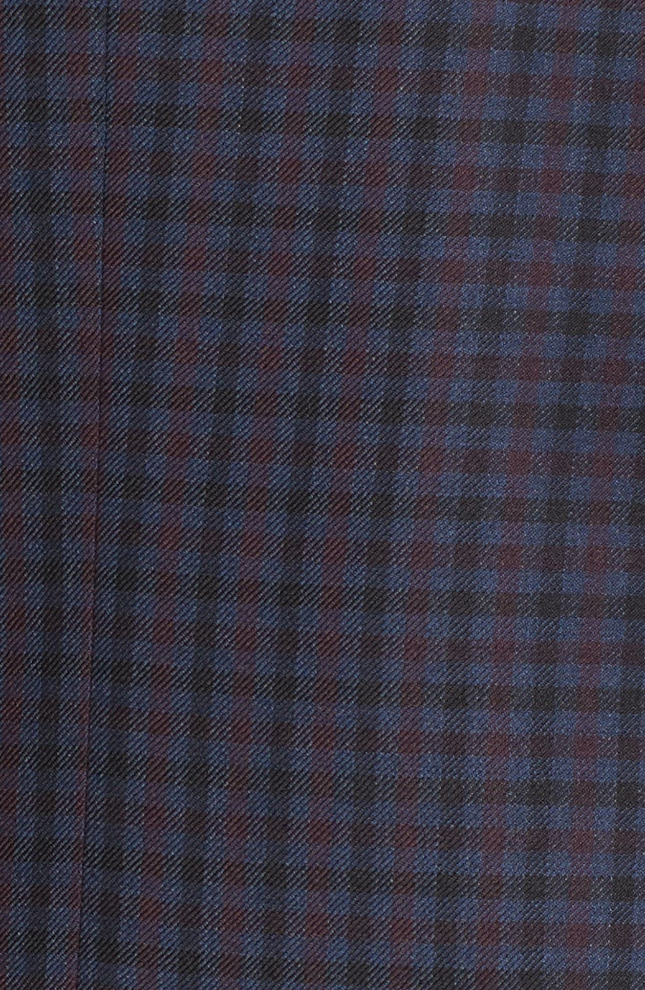 Connor Classic Fit Check Wool Sport Coat,                             Alternate thumbnail 6, color,                             400