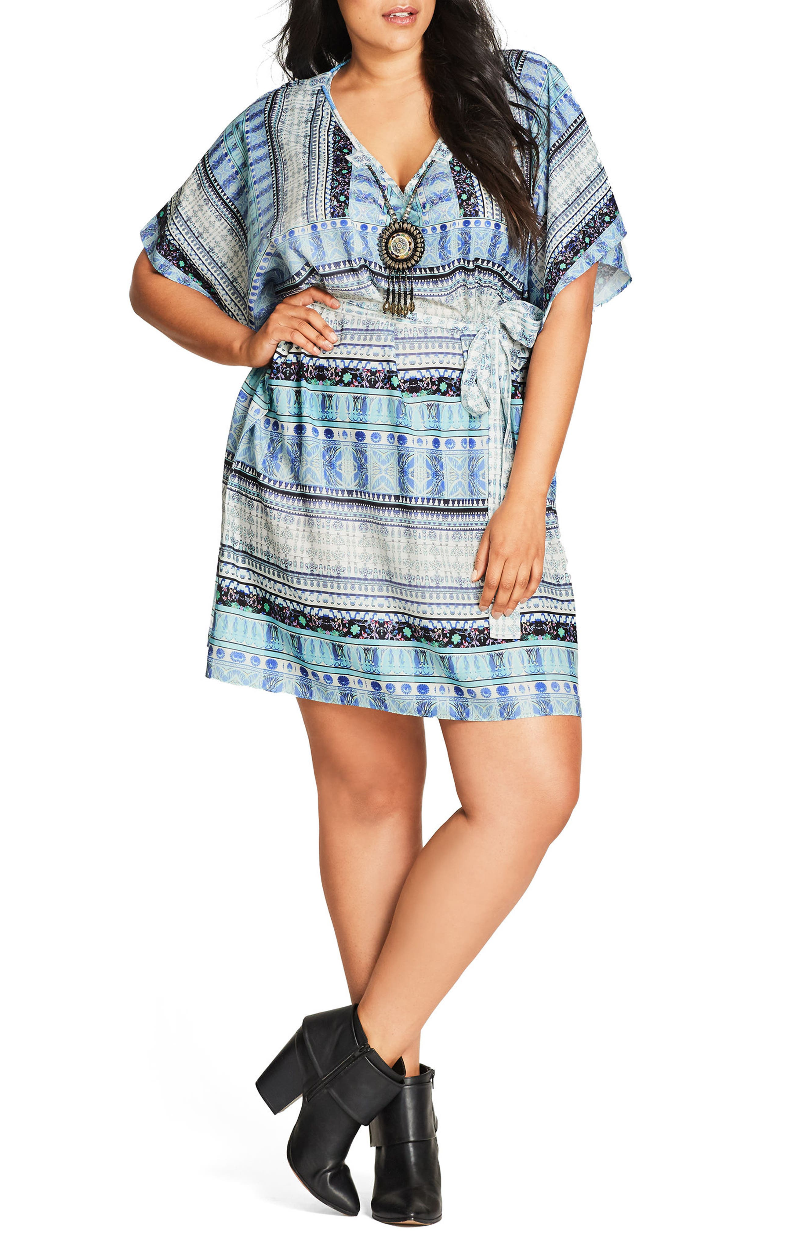 'Moroccan Affair' Embellished Print Tunic,                         Main,                         color, 401