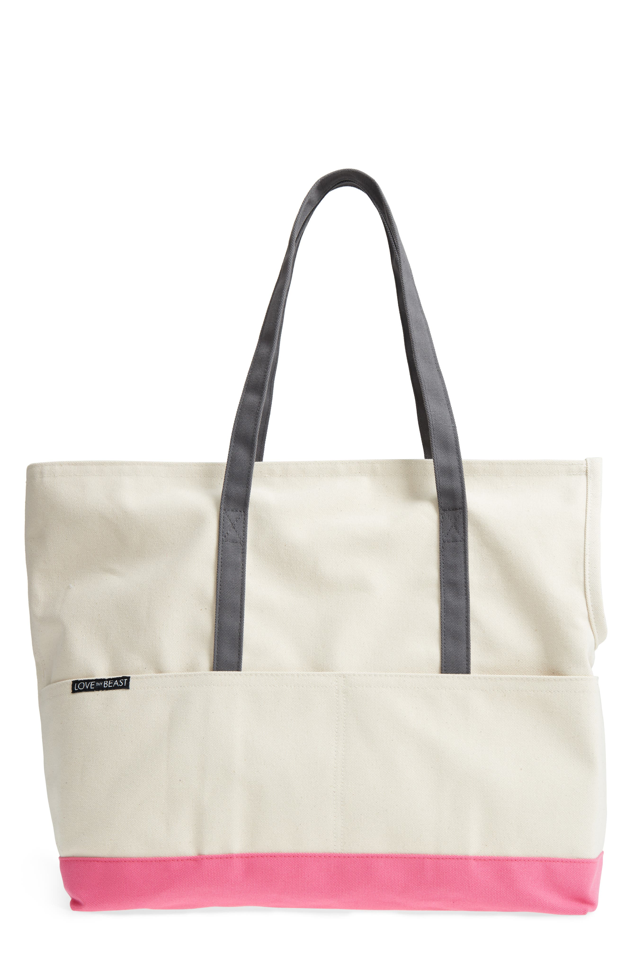 LOVETHYBEAST Large Canvas Pet Tote, Main, color, 250