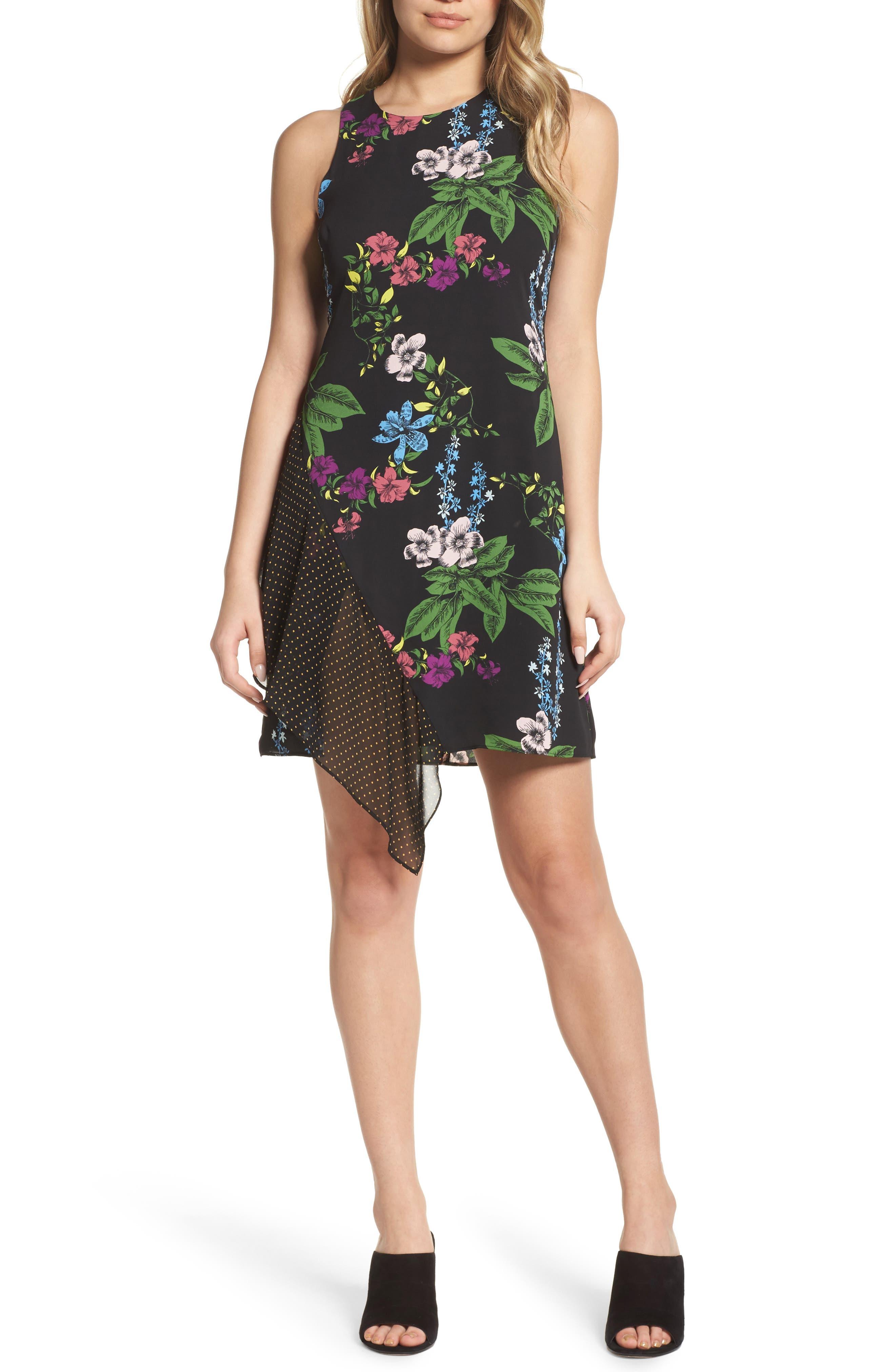 Side Drape Sheath Dress,                             Main thumbnail 1, color,