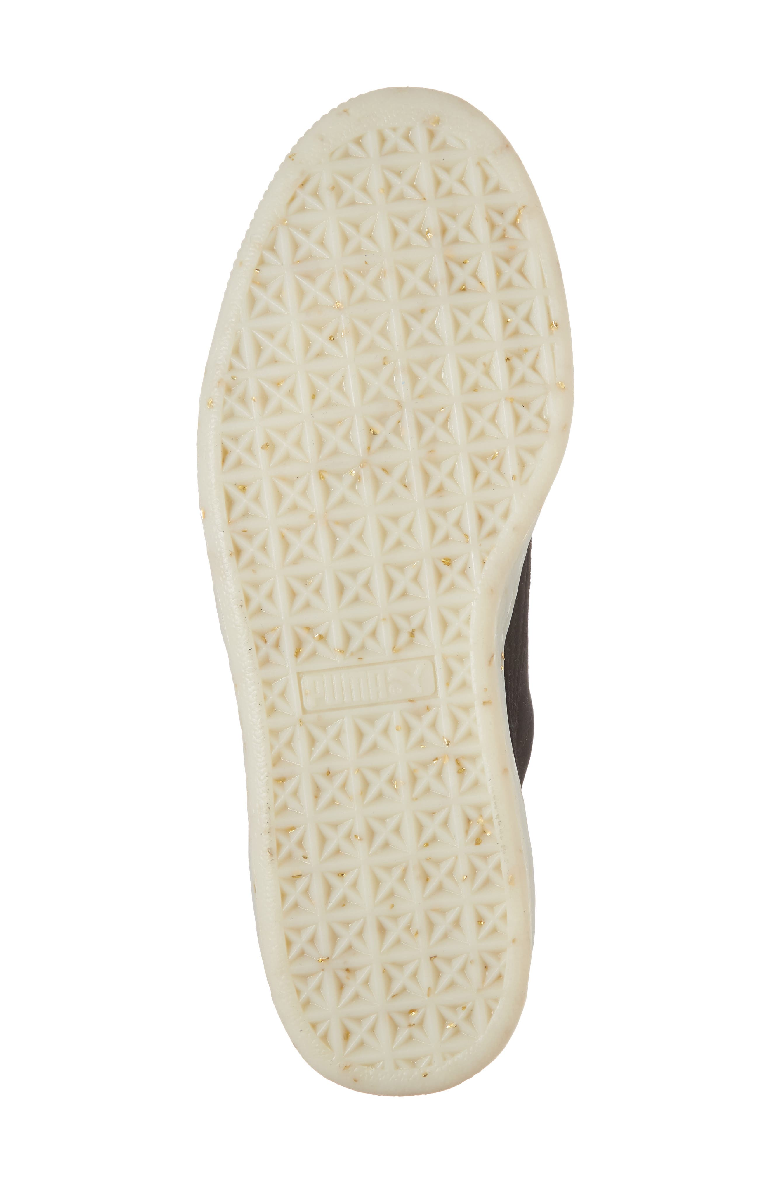 Suede - Heart Sneaker,                             Alternate thumbnail 6, color,                             002