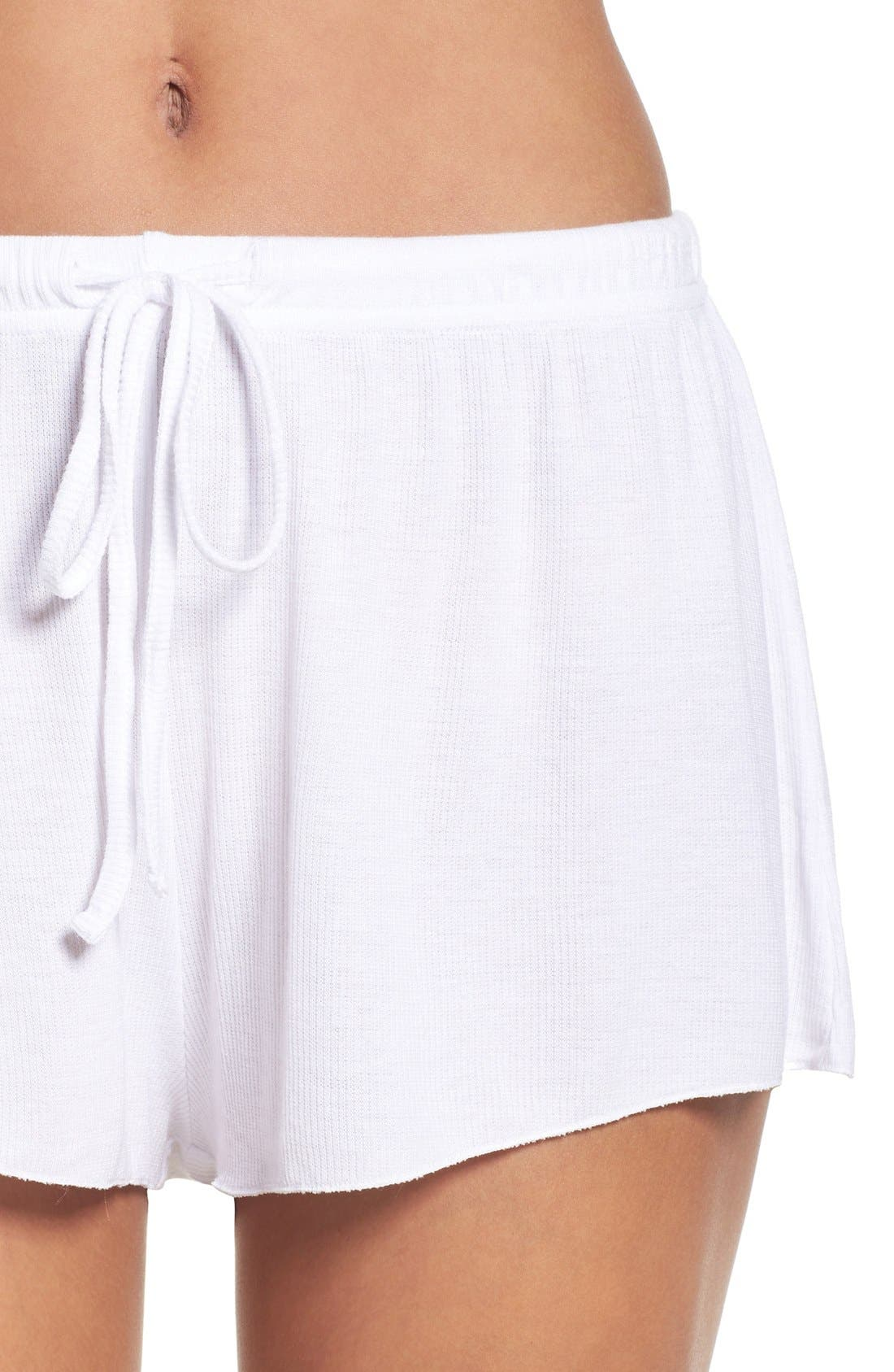 BAREFOOT DREAMS<SUP>®</SUP>,                             Luxe Lounge Shorts,                             Alternate thumbnail 4, color,                             100
