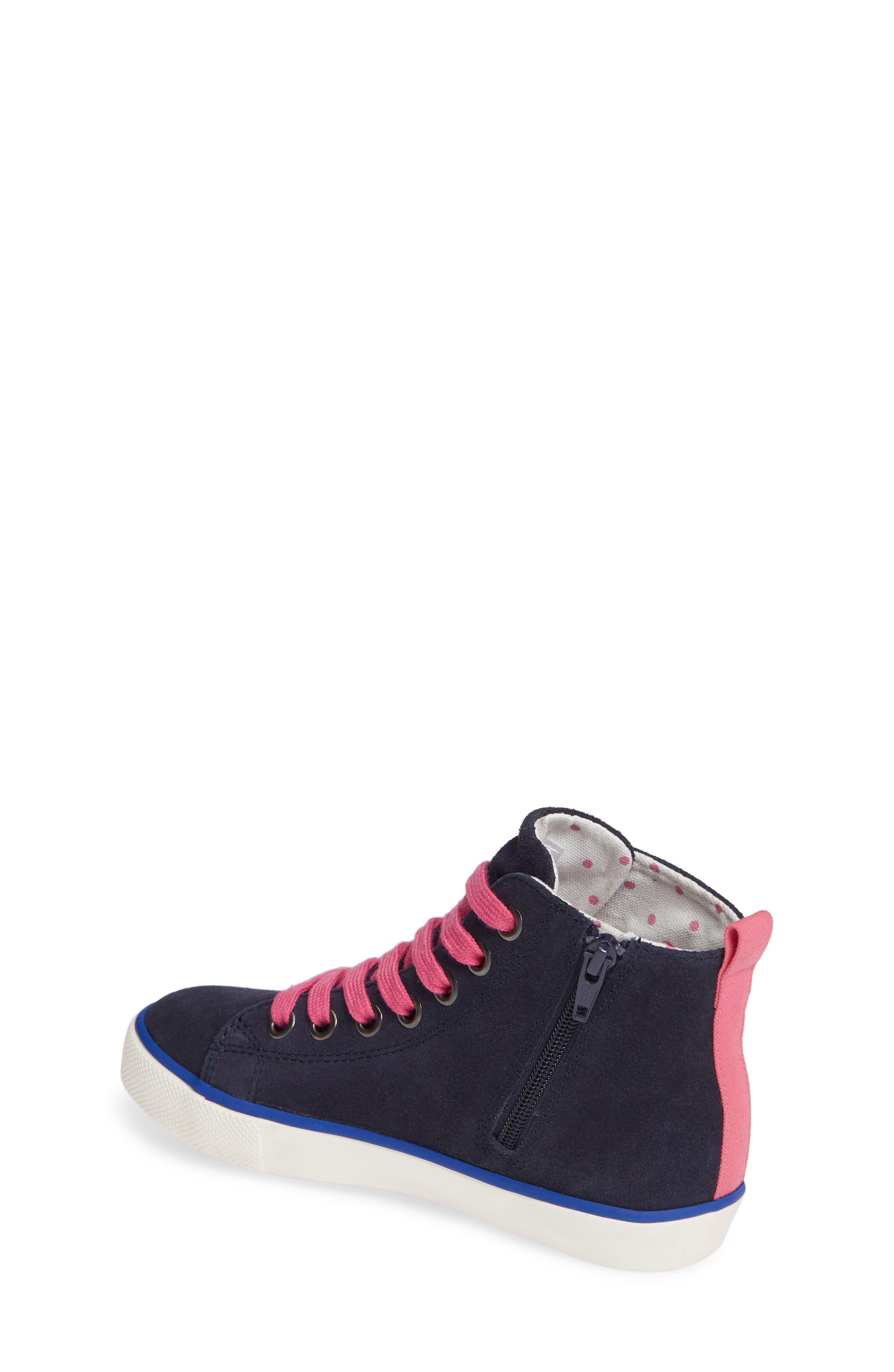 Mini Boden Appliqué High Top Sneaker,                             Alternate thumbnail 2, color,                             SCHOOL NAVY