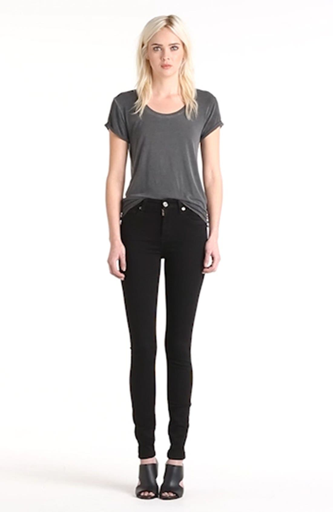 'Slim Illusion Luxe' High Waist Skinny Jeans,                             Alternate thumbnail 2, color,                             004