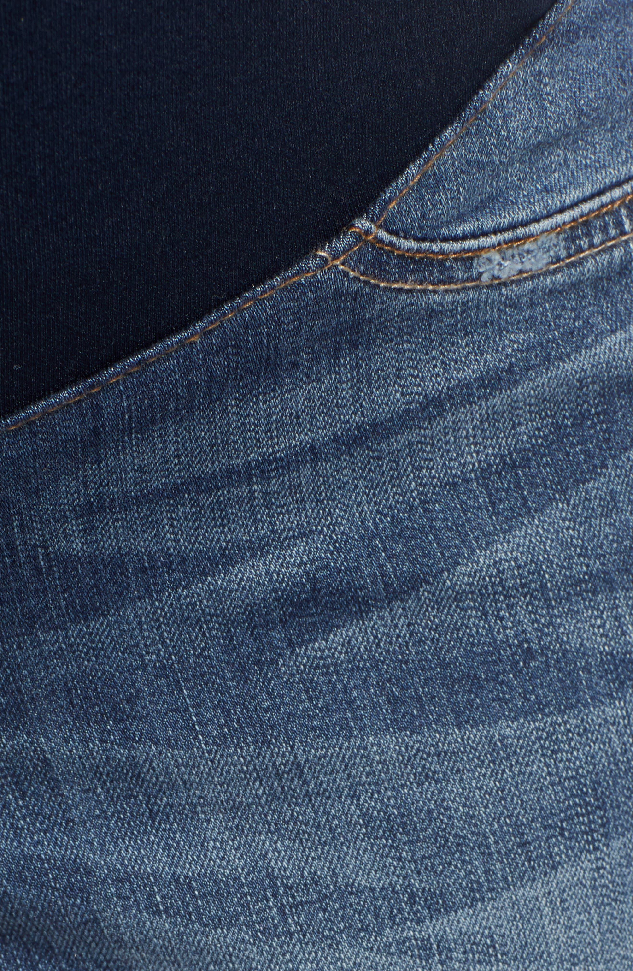 Cassie Crop Straight Leg Maternity Jeans,                             Alternate thumbnail 5, color,                             CASSIE