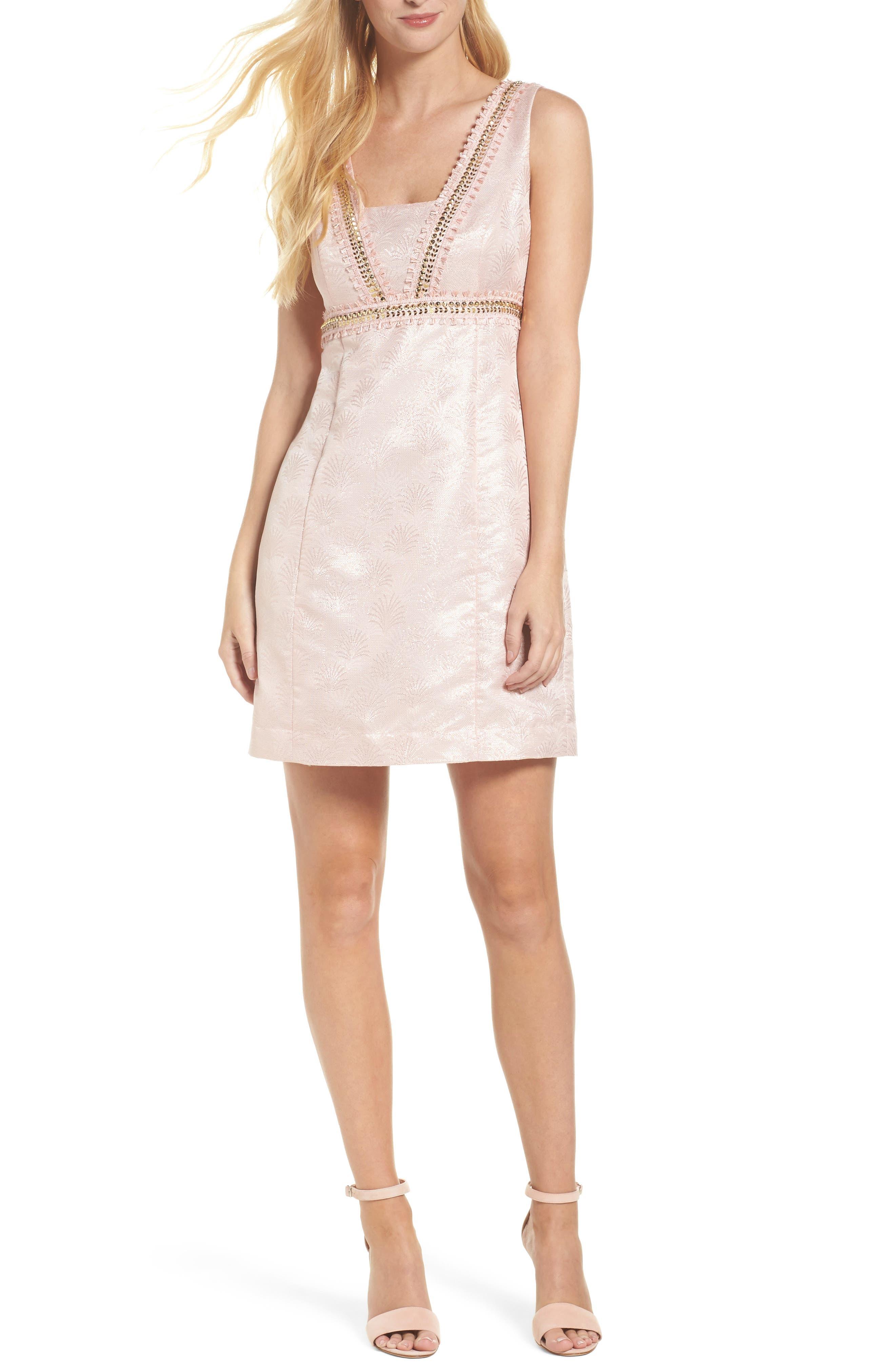 Karter Embellished Sheath Dress,                             Main thumbnail 1, color,