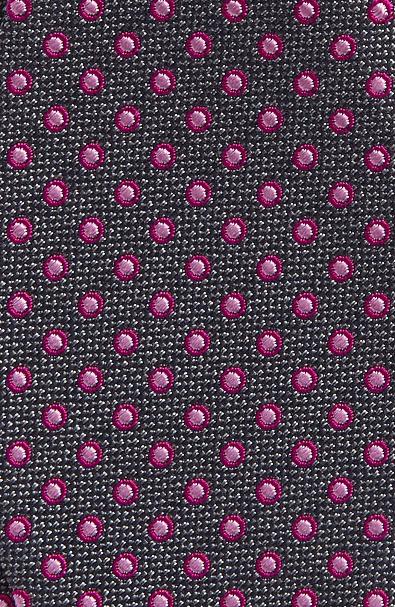 Fancy Dots Silk & Cotton Bow Tie,                             Alternate thumbnail 3, color,                             020