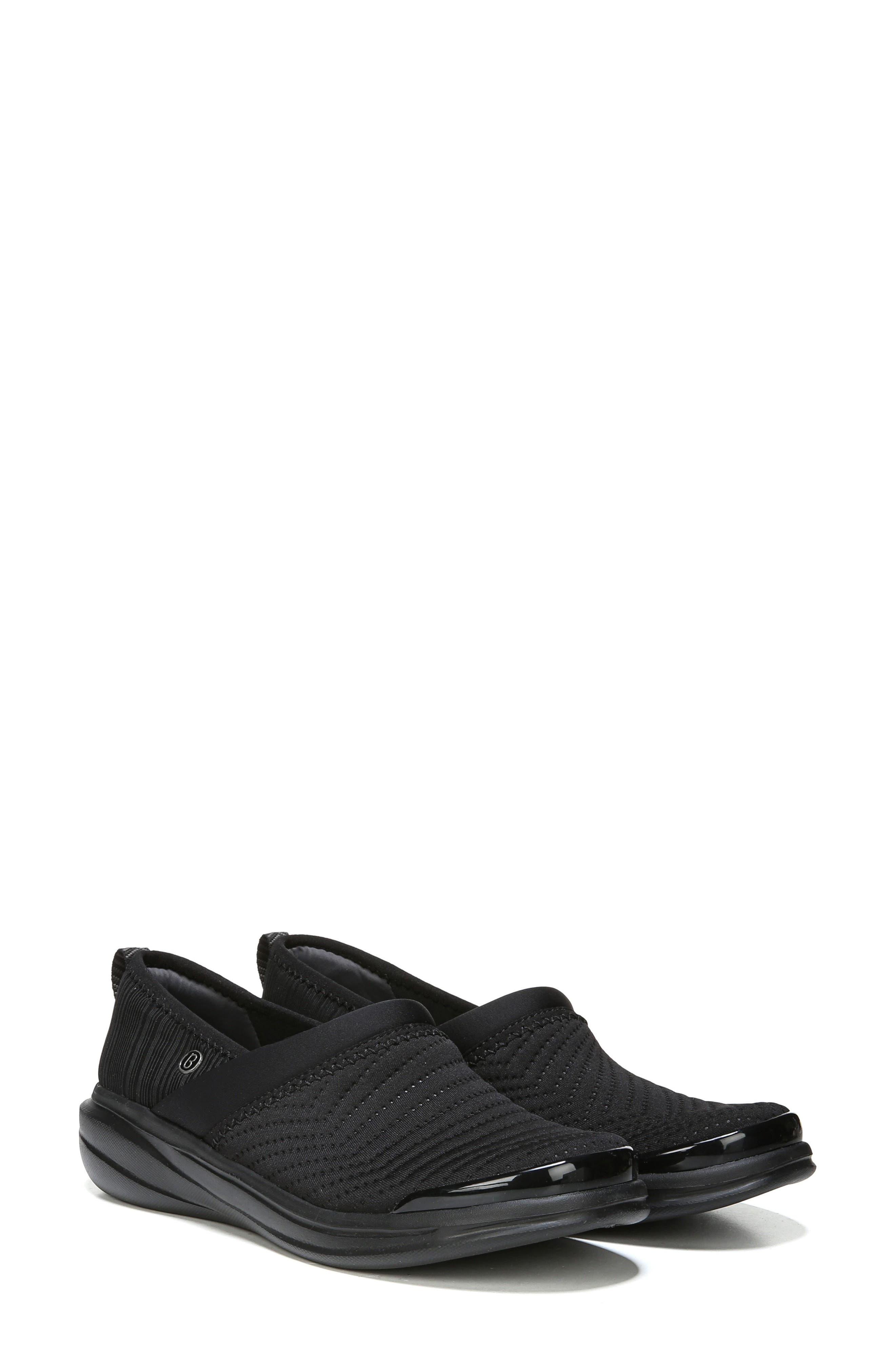 Coco Slip-On Sneaker,                             Alternate thumbnail 7, color,                             BLACK FABRIC