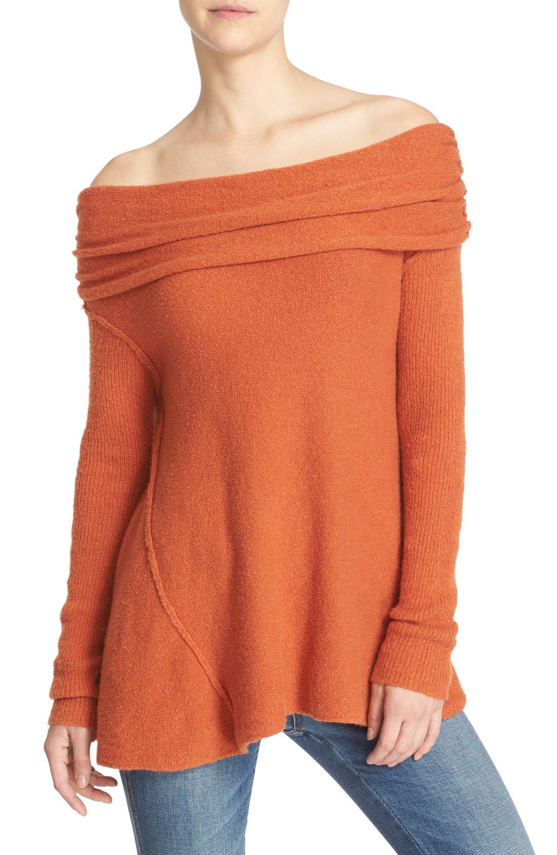 'Strawberry Fields' Off the Shoulder Sweater,                             Main thumbnail 2, color,