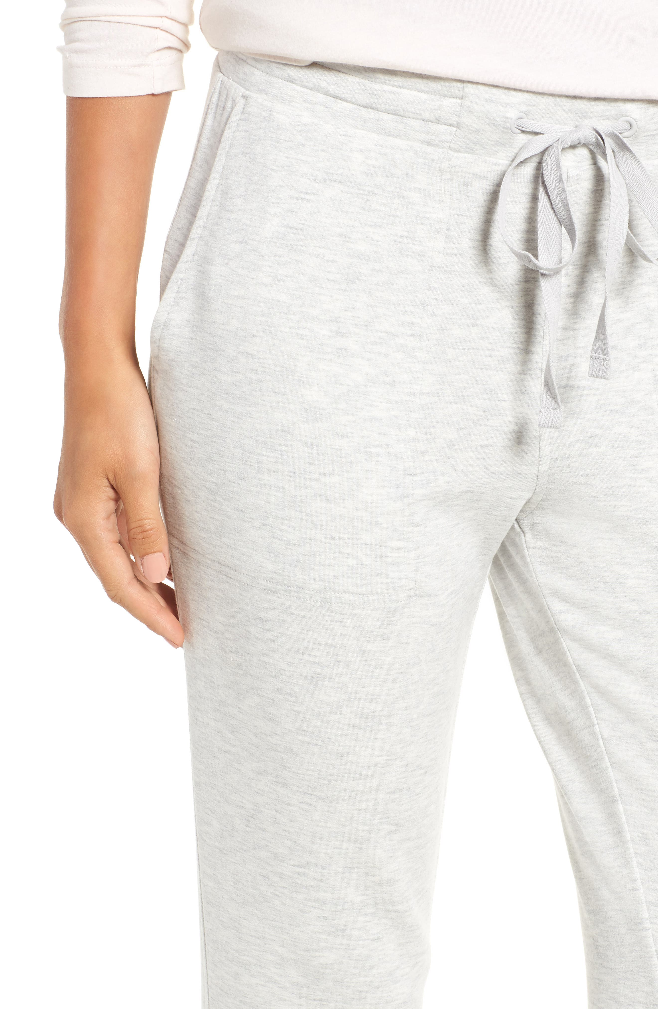 Zen Bounce Upstate Sweatpants,                             Alternate thumbnail 6, color,                             SLEEK HEATHER GREY