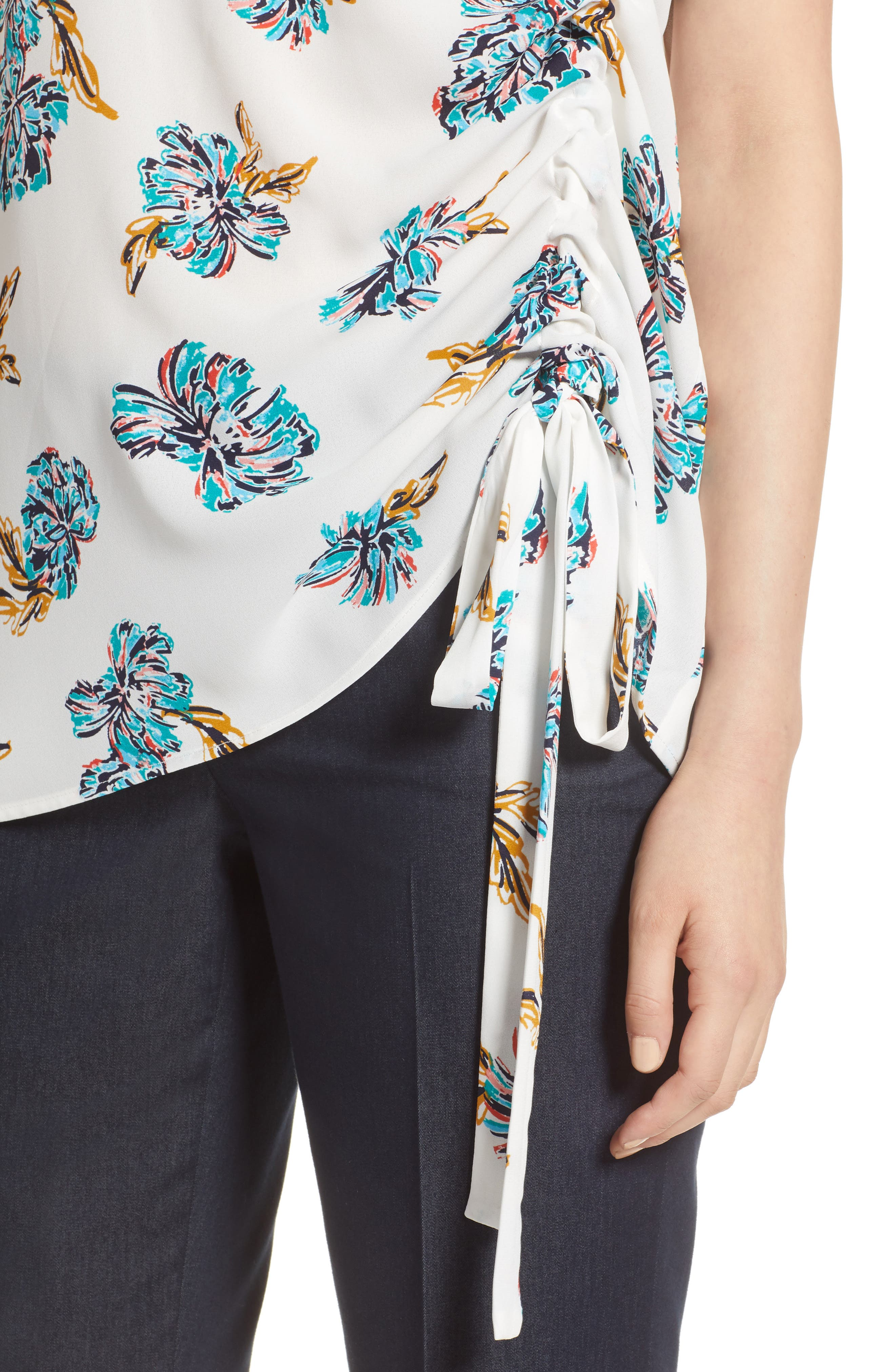 Side Ruched Top,                             Alternate thumbnail 16, color,