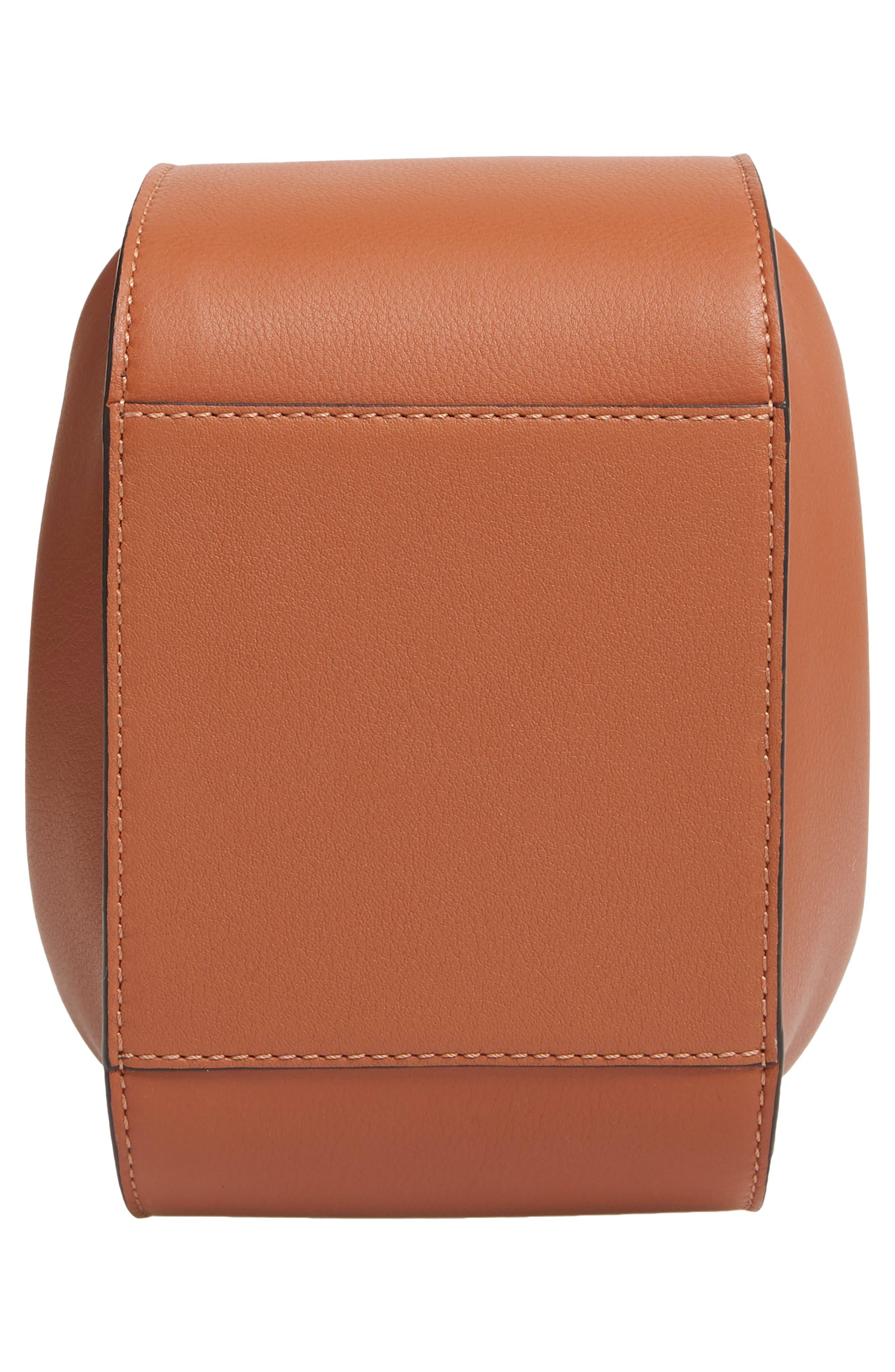 LOEWE,                             Mini Hammock Calfskin Leather Hobo Bag,                             Alternate thumbnail 7, color,                             TAN