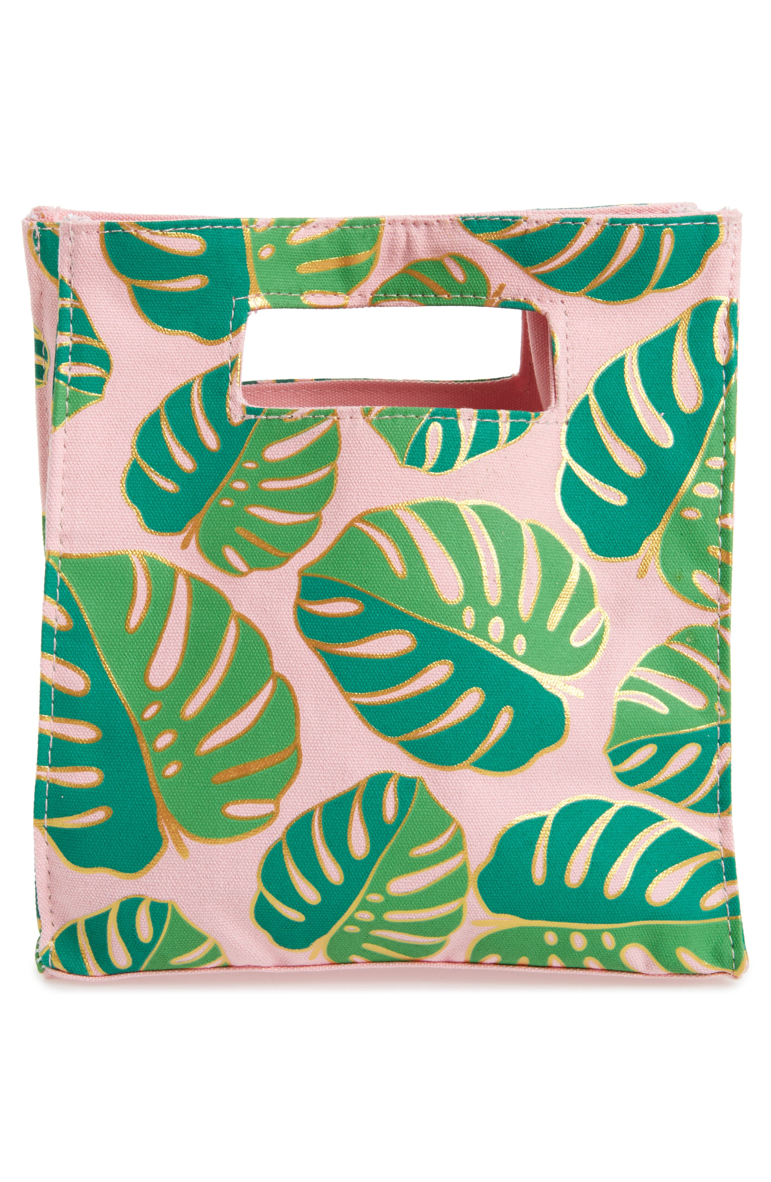SLANT COLLECTIONS,                             Monstera Print Canvas Tote,                             Alternate thumbnail 2, color,                             653