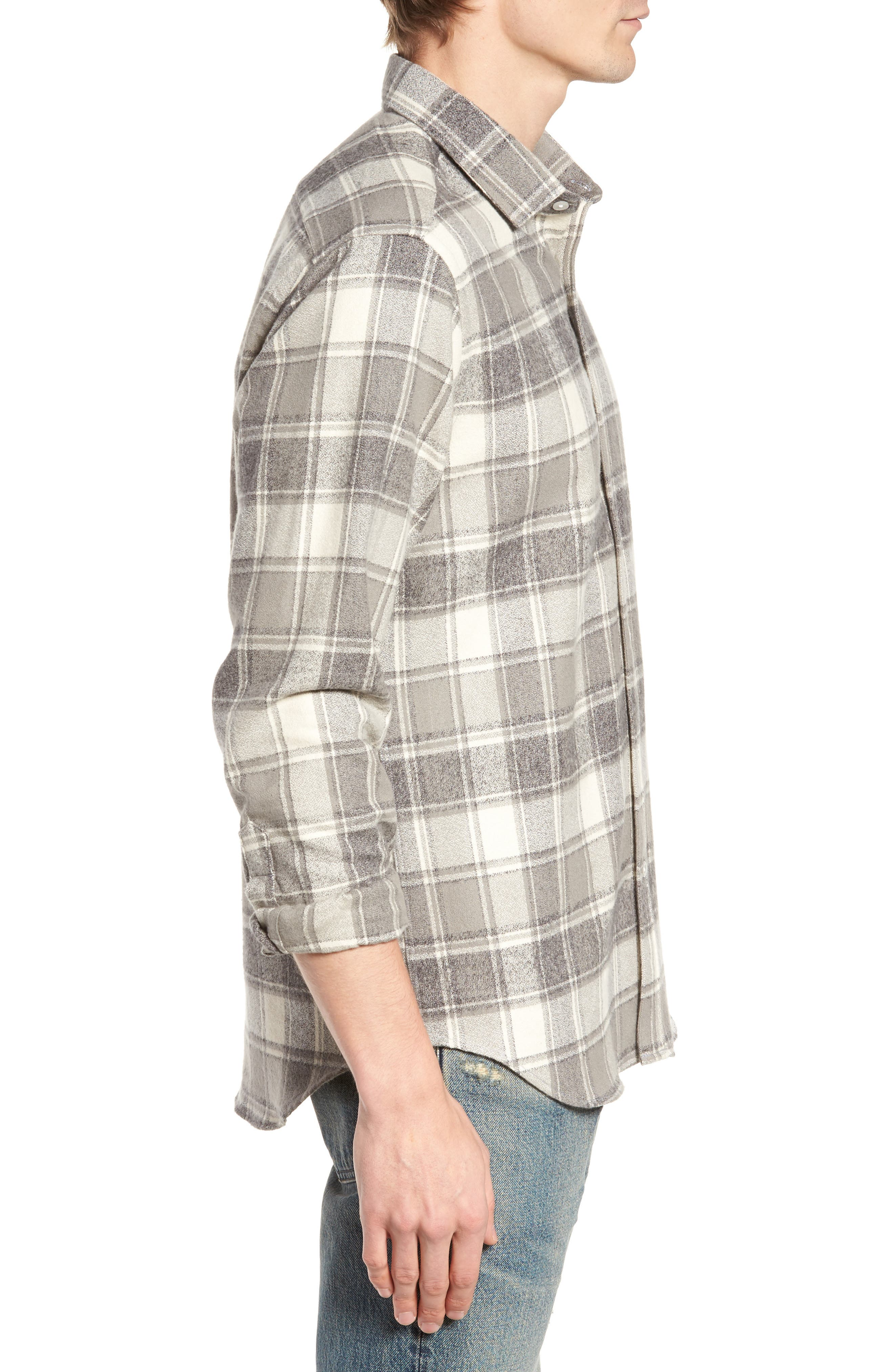 Ma Slim Fit Plaid Sport Shirt,                             Alternate thumbnail 3, color,                             060