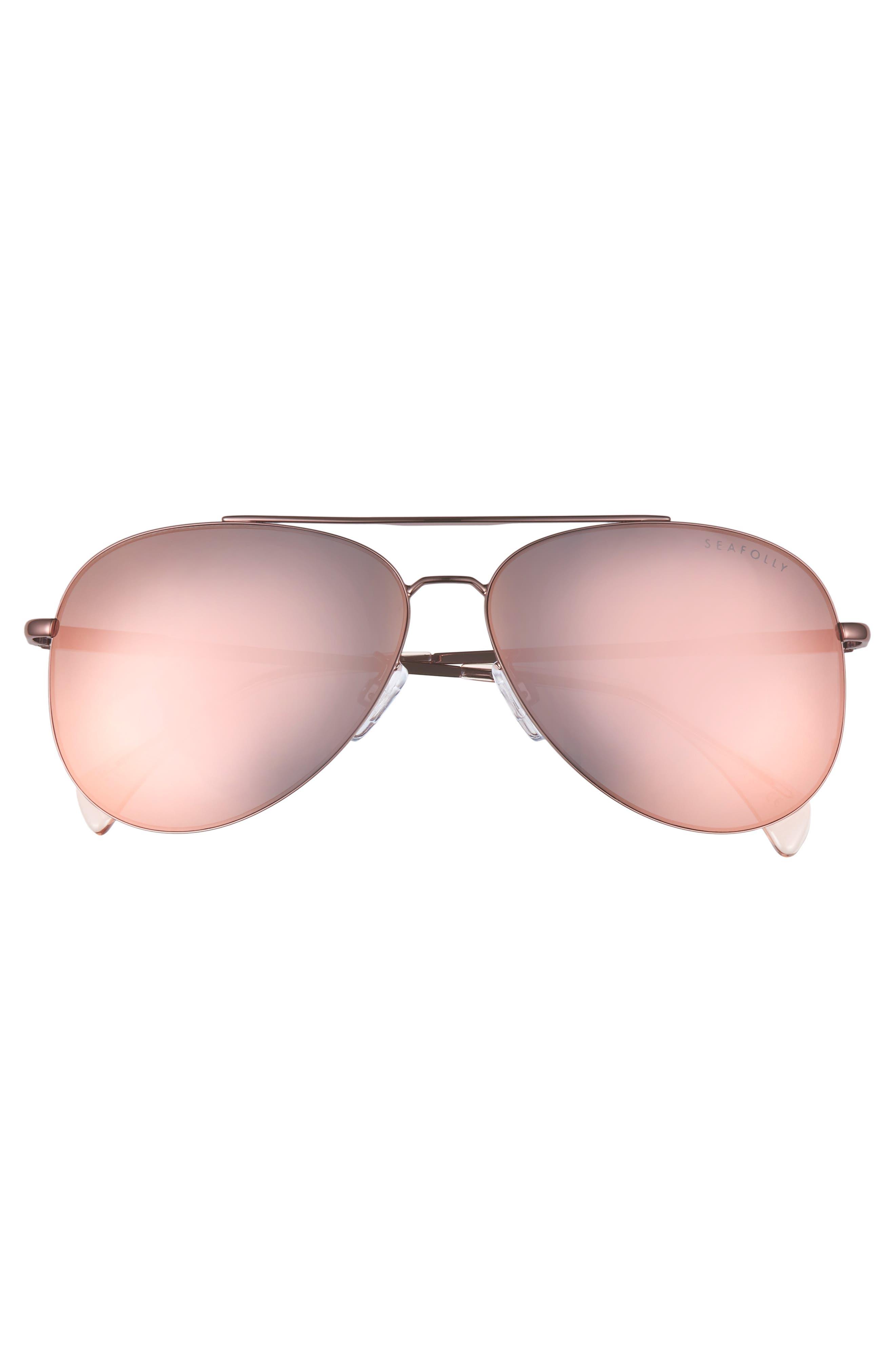 Hiva Oa 58mm Aviator Sunglasses,                             Alternate thumbnail 3, color,                             BALLET