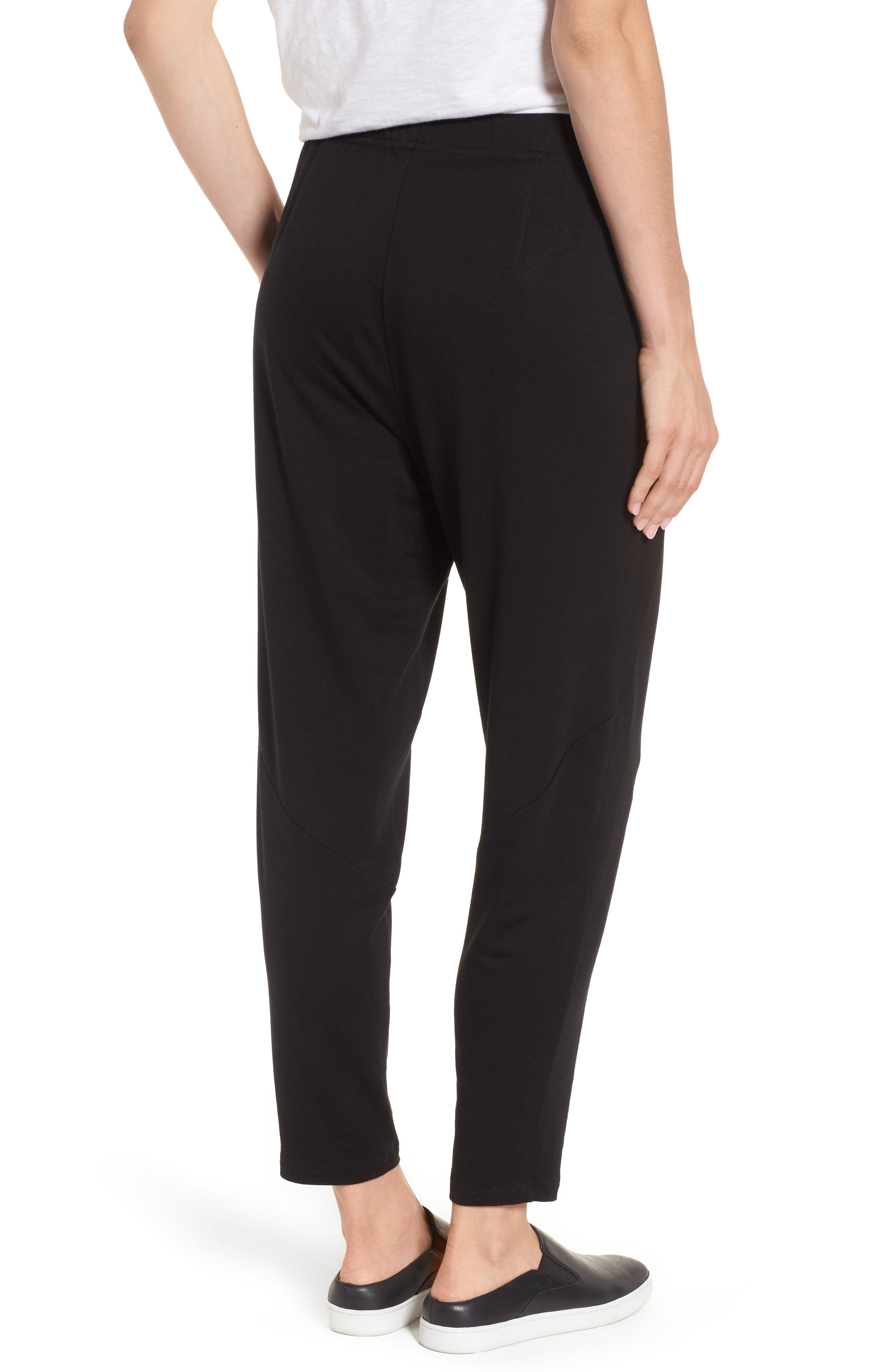 Slouchy Stretch Tencel<sup>®</sup> Lyocell Tapered Pants,                             Alternate thumbnail 2, color,                             001