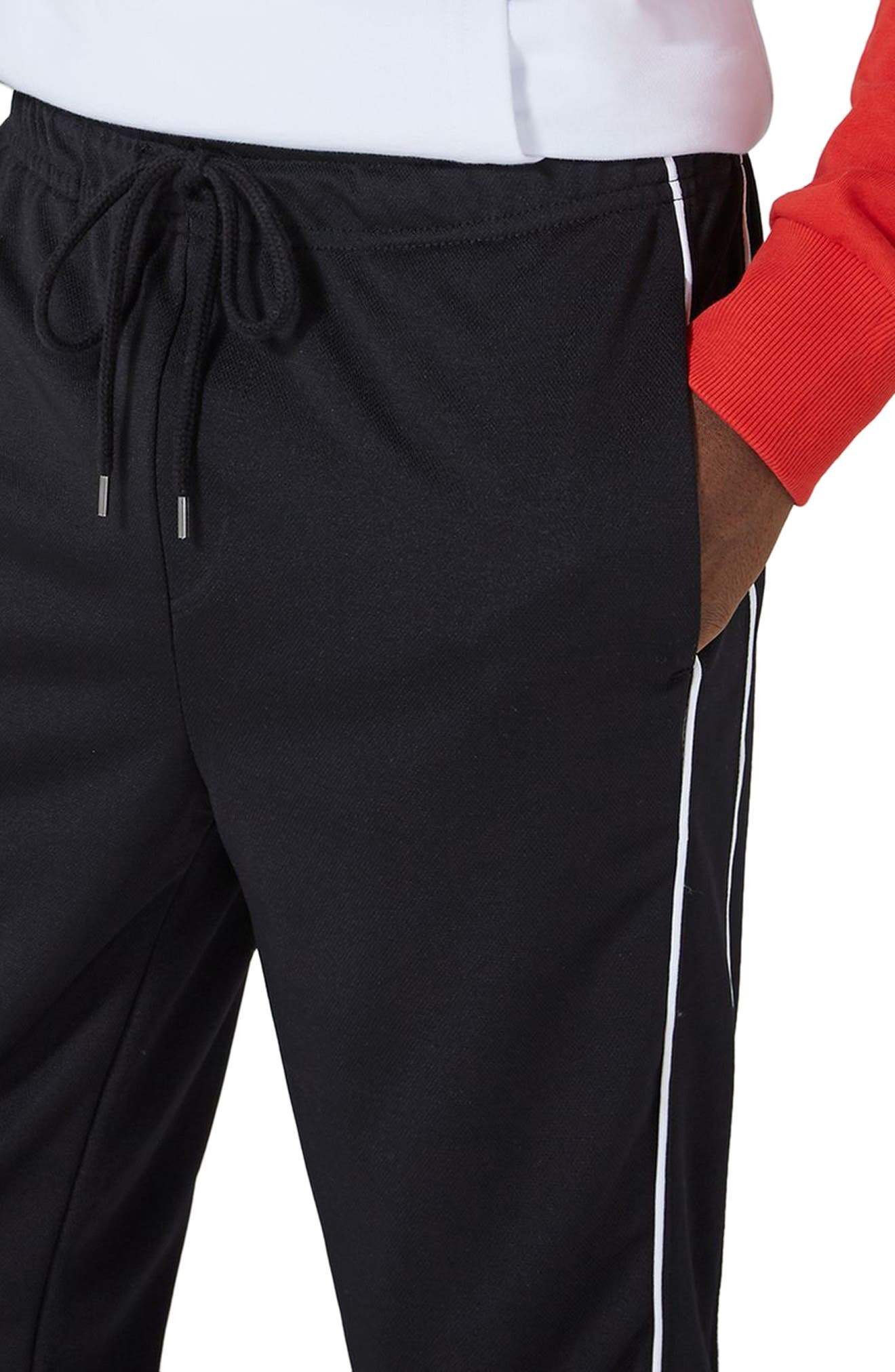 Piped Jogger Pants,                             Alternate thumbnail 3, color,                             001