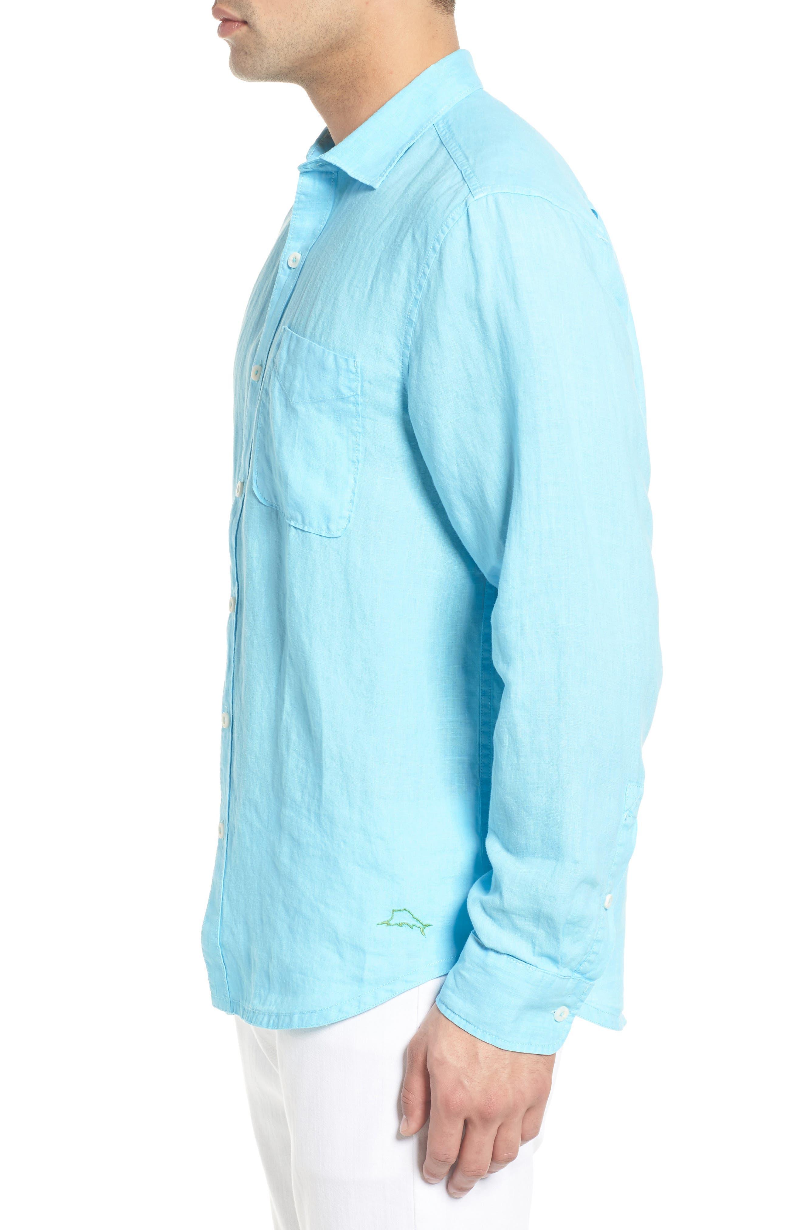 Seaspray Breezer Linen Shirt,                             Alternate thumbnail 12, color,