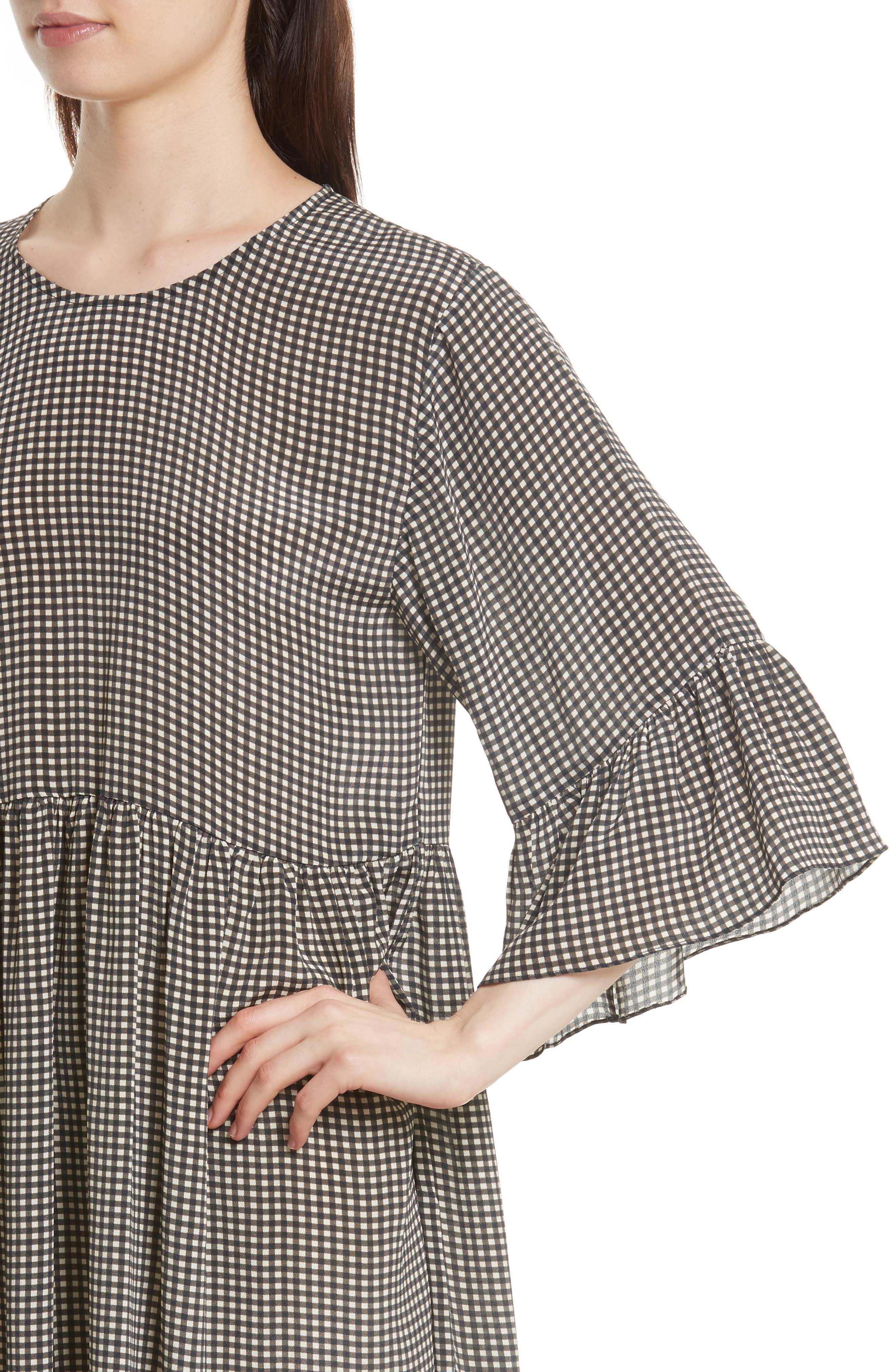 The Sweetie Silk Midi Dress,                             Alternate thumbnail 4, color,                             020