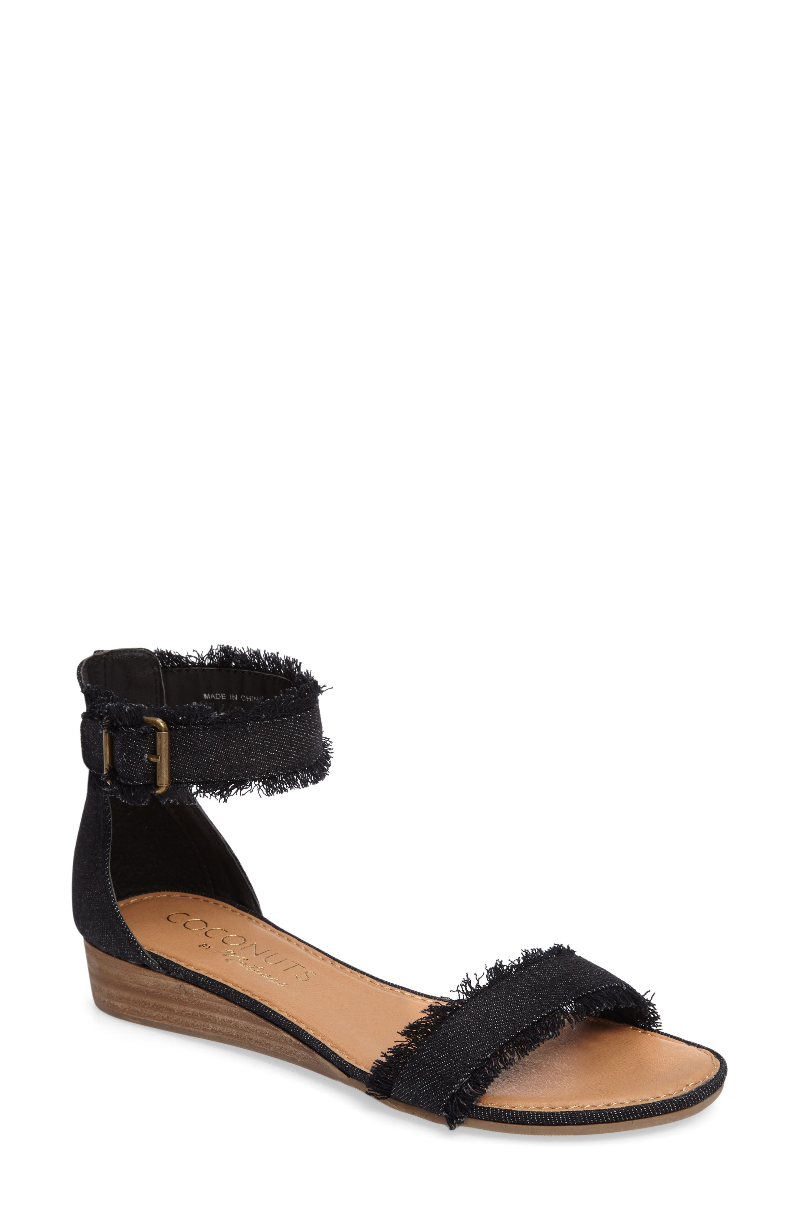 Coconuts by Matisse Fly Ankle Strap Sandal,                         Main,                         color, 002