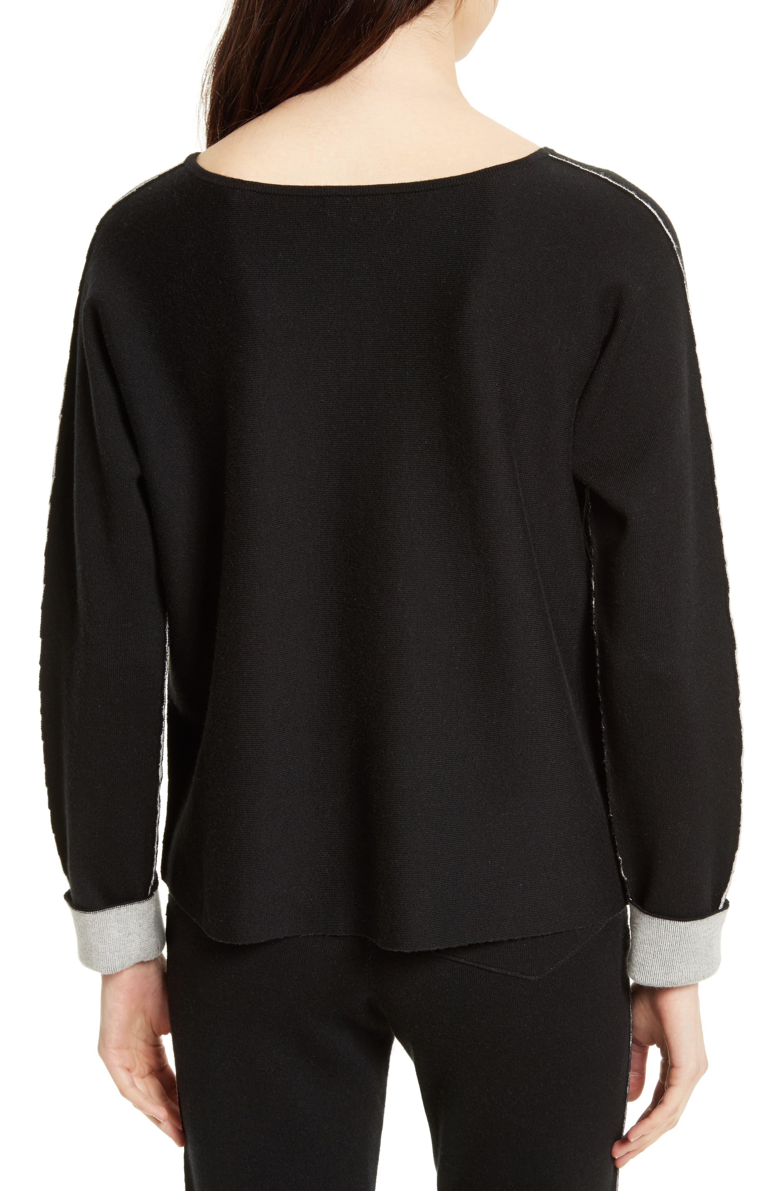 Cotton Blend Sweater,                             Alternate thumbnail 2, color,                             007