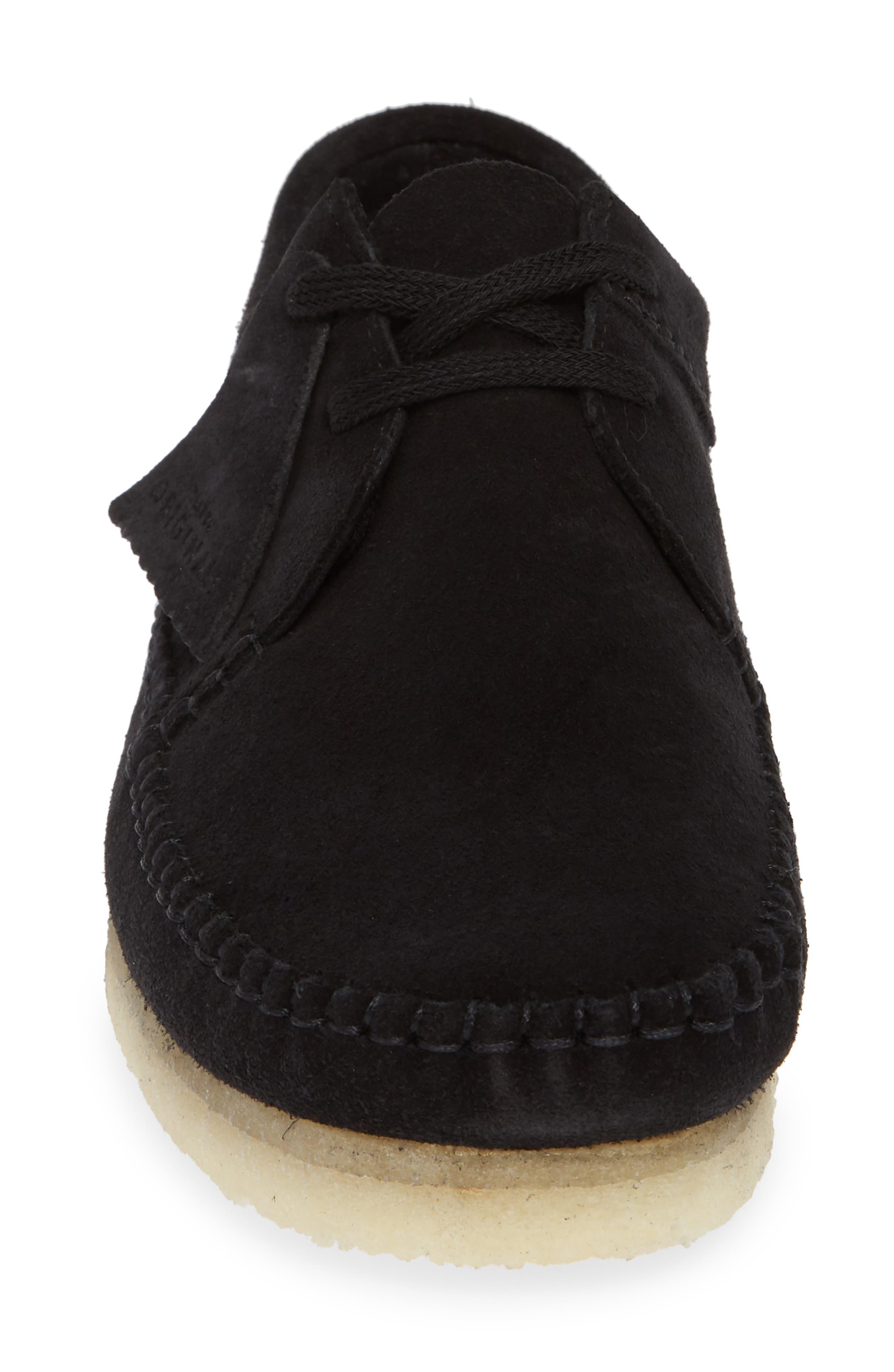 'Weaver' Moc Toe Derby,                             Alternate thumbnail 4, color,                             BLACK SUEDE