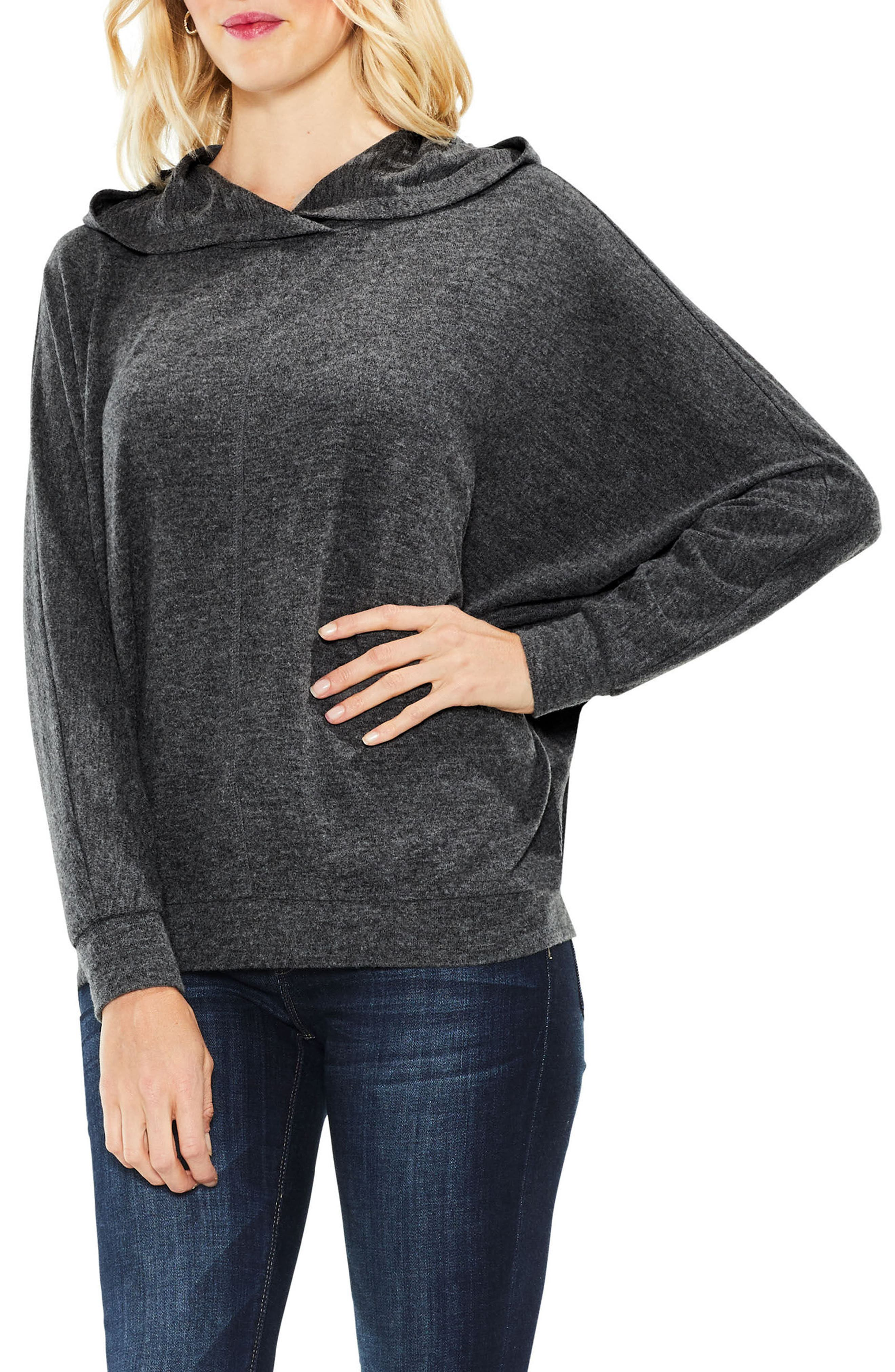 Dolman Sleeve Brushed Jersey Hoodie,                             Main thumbnail 1, color,                             023