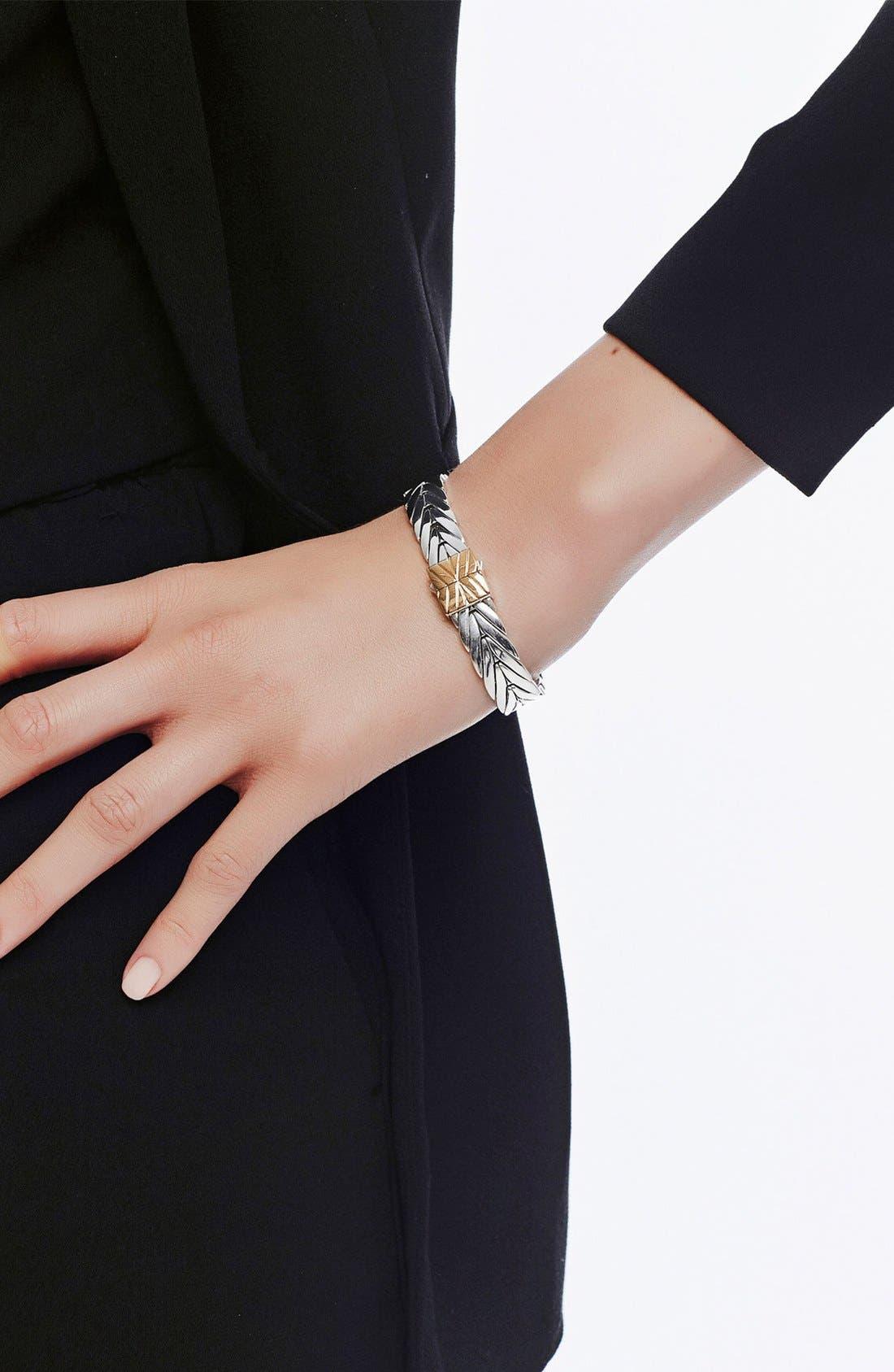 'Classic Chain' Bracelet,                             Alternate thumbnail 2, color,                             SILVER/GOLD