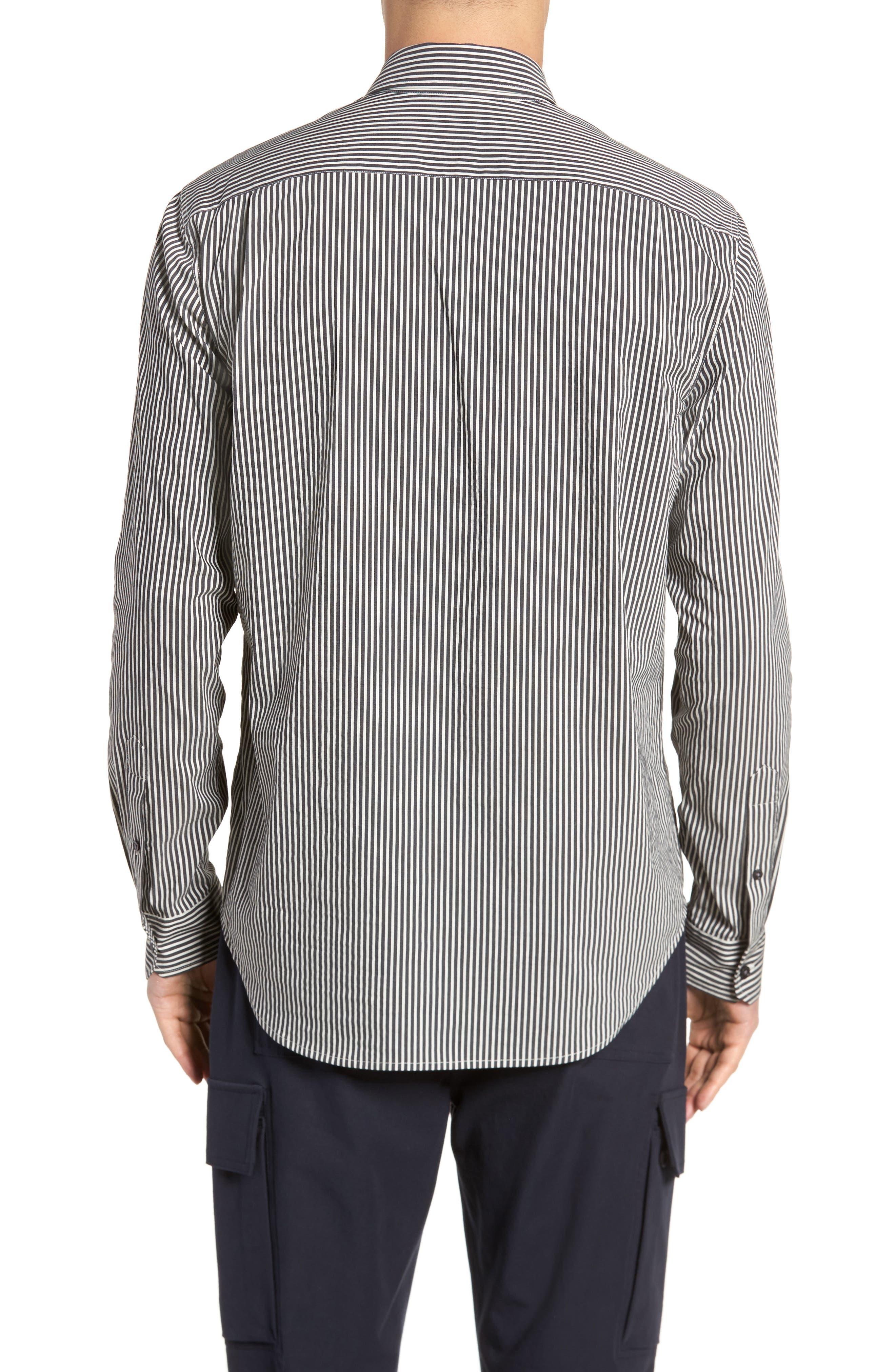 Bar Stripe Sport Shirt,                             Alternate thumbnail 2, color,