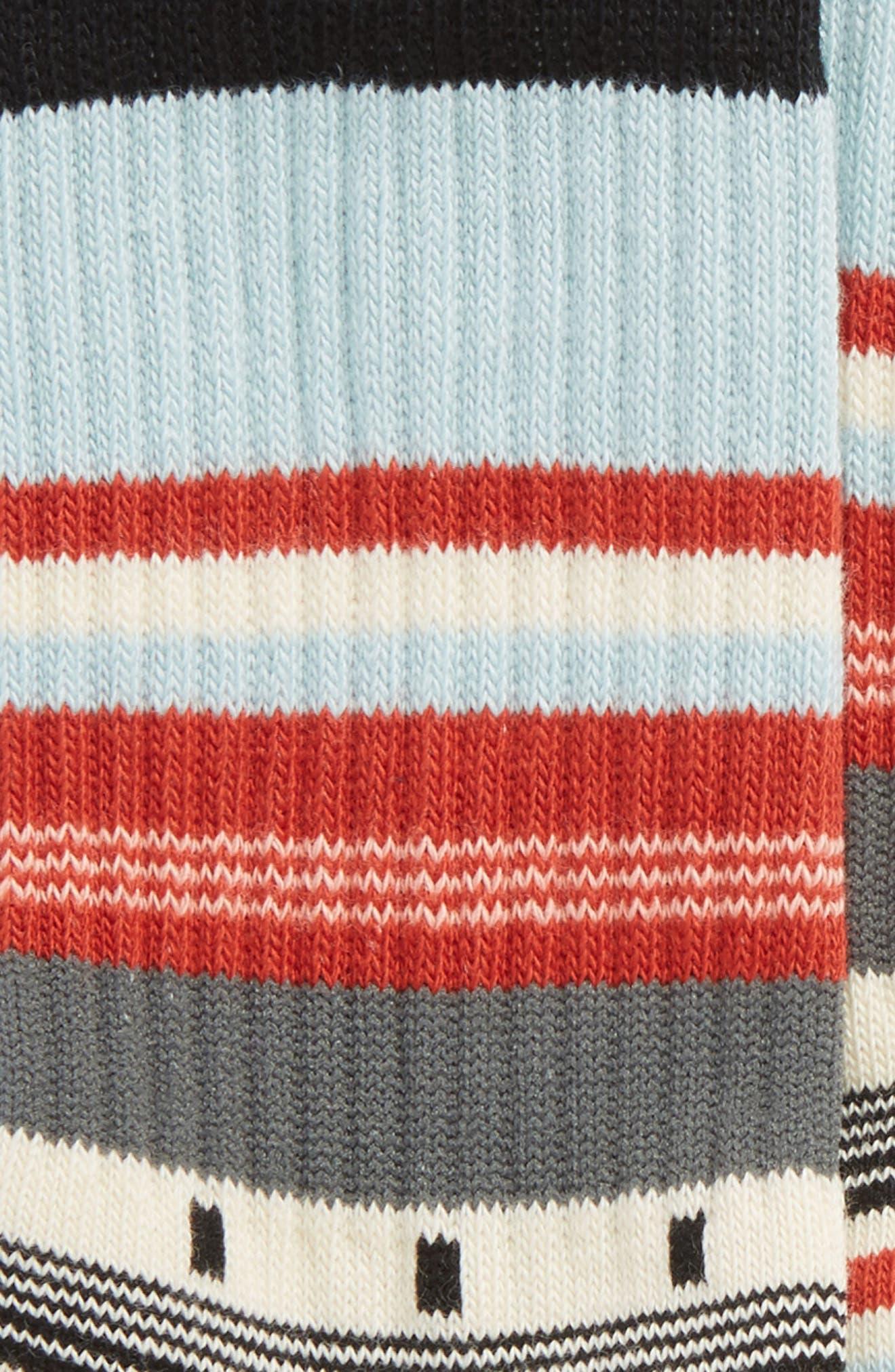 Stripe Socks,                             Alternate thumbnail 2, color,                             100
