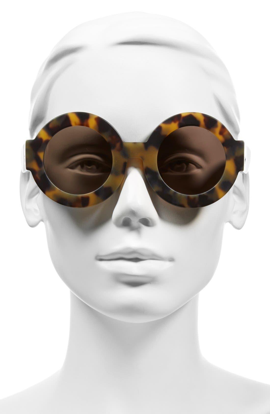 'Scapula' 45mm Round Sunglasses,                             Alternate thumbnail 5, color,