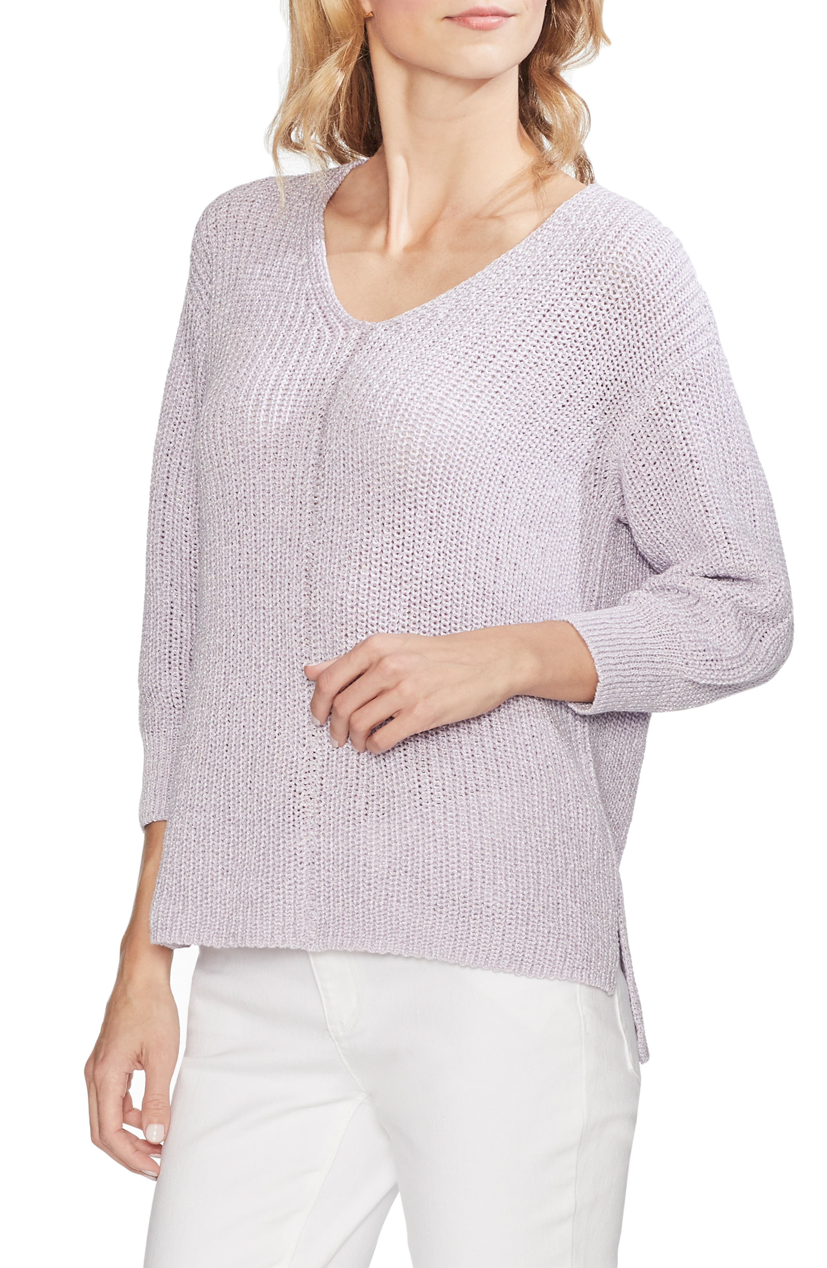 Vince Camuto Tops V-NECK MARLED SWEATER
