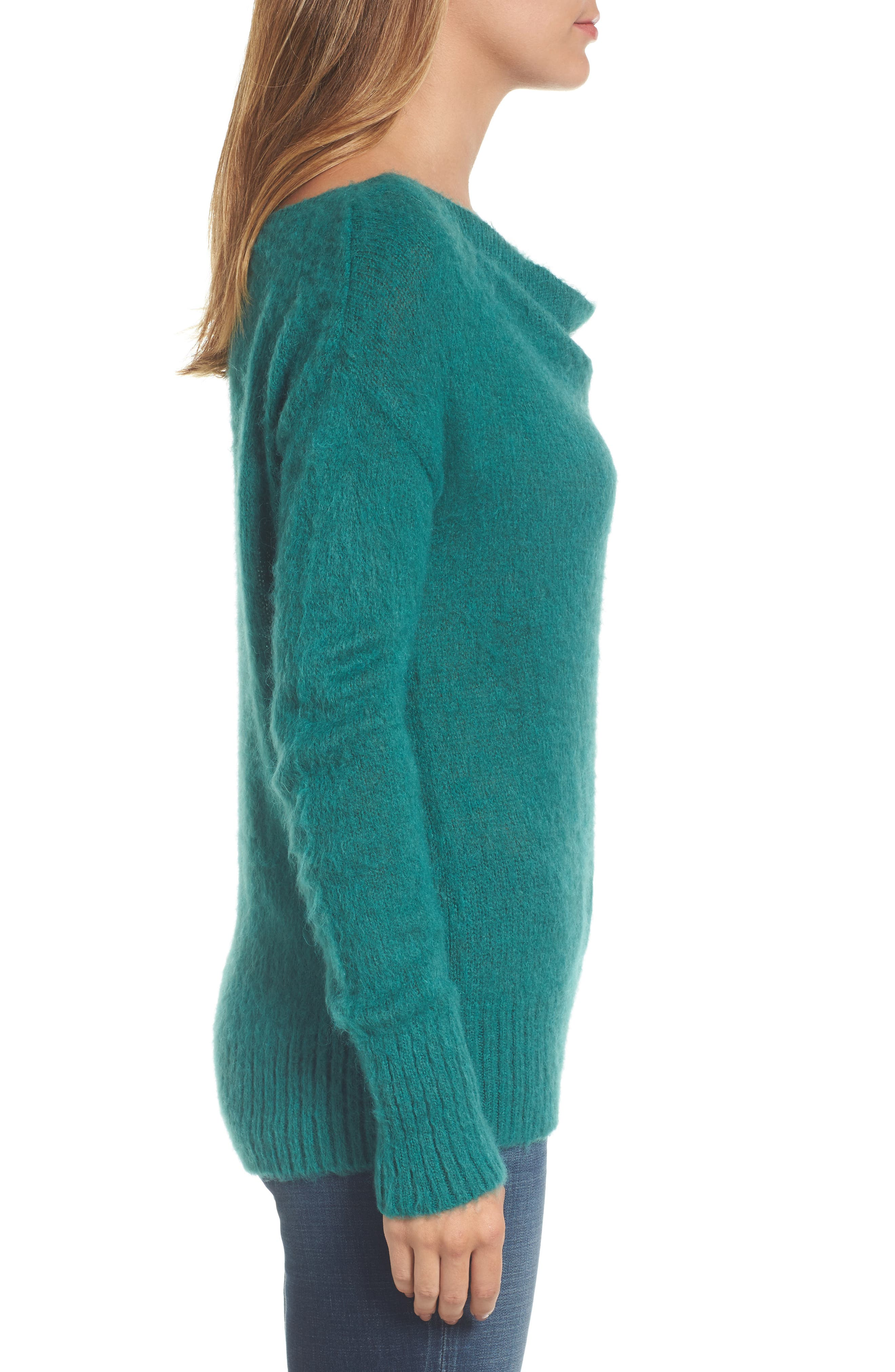 Long Sleeve Brushed Sweater,                             Alternate thumbnail 15, color,