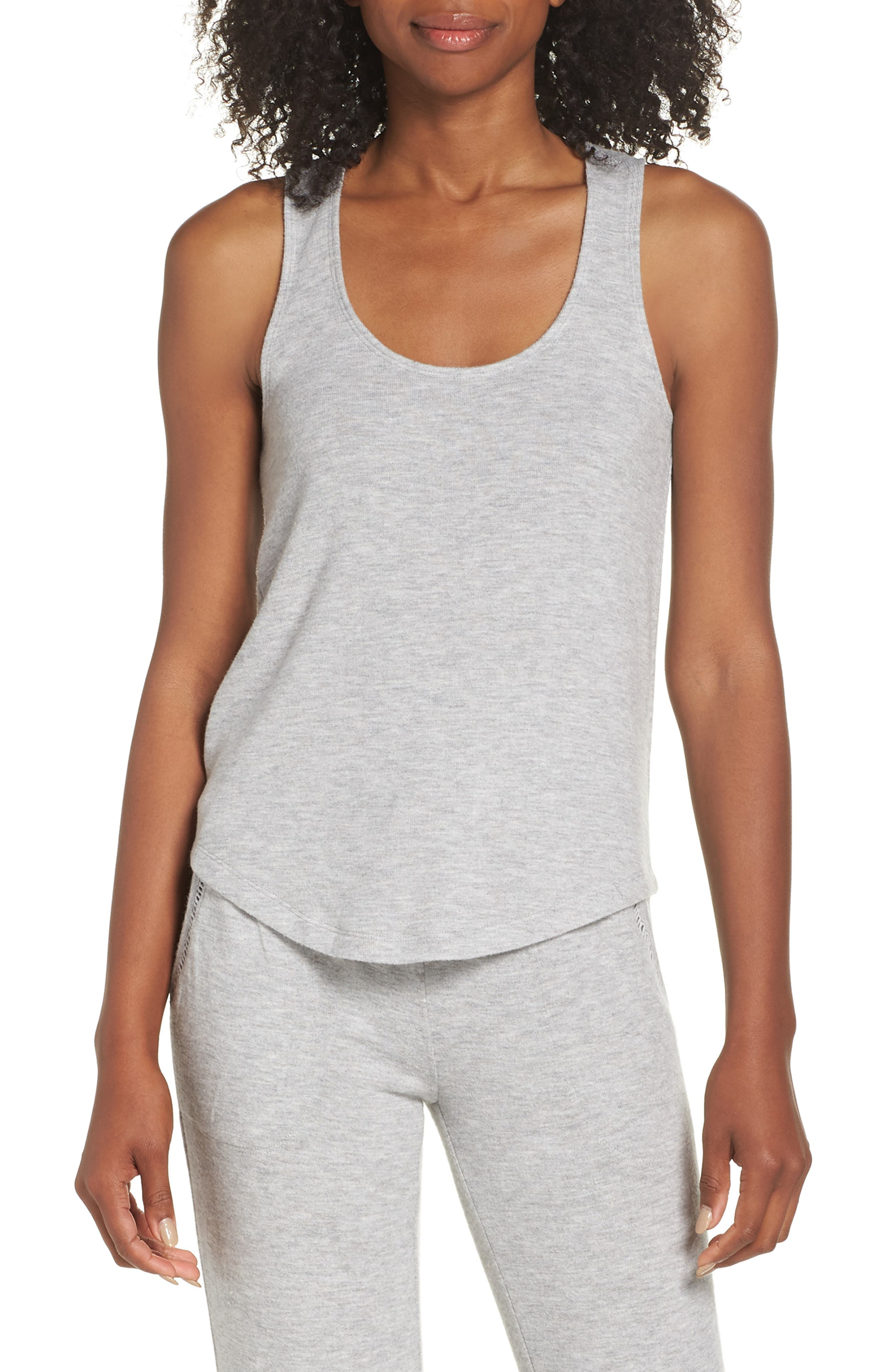 Racerback Tank,                         Main,                         color, H GREY