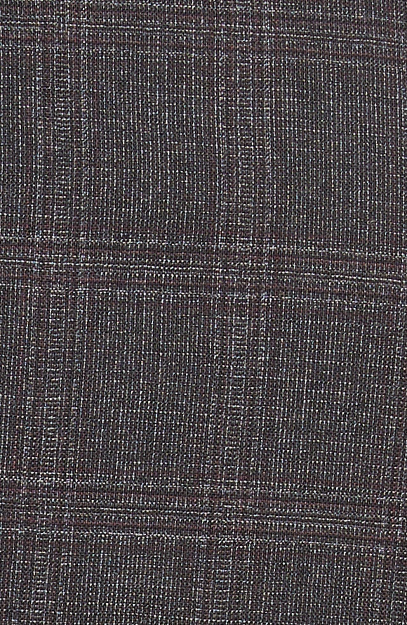 Jay Trim Fit Plaid Wool Suit,                             Alternate thumbnail 7, color,                             CHARCOAL