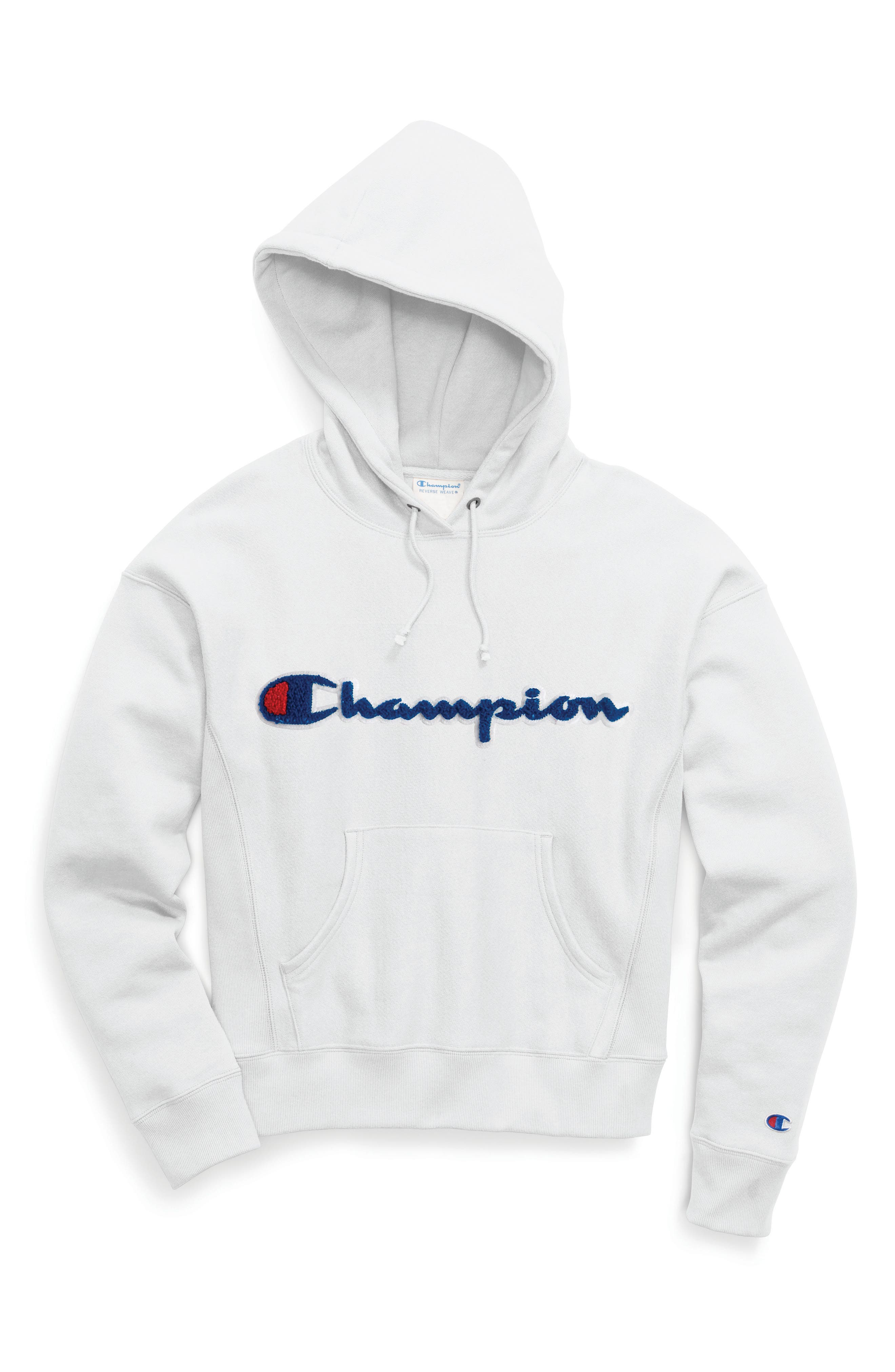 Logo Appliqué Hoodie,                             Alternate thumbnail 4, color,                             100