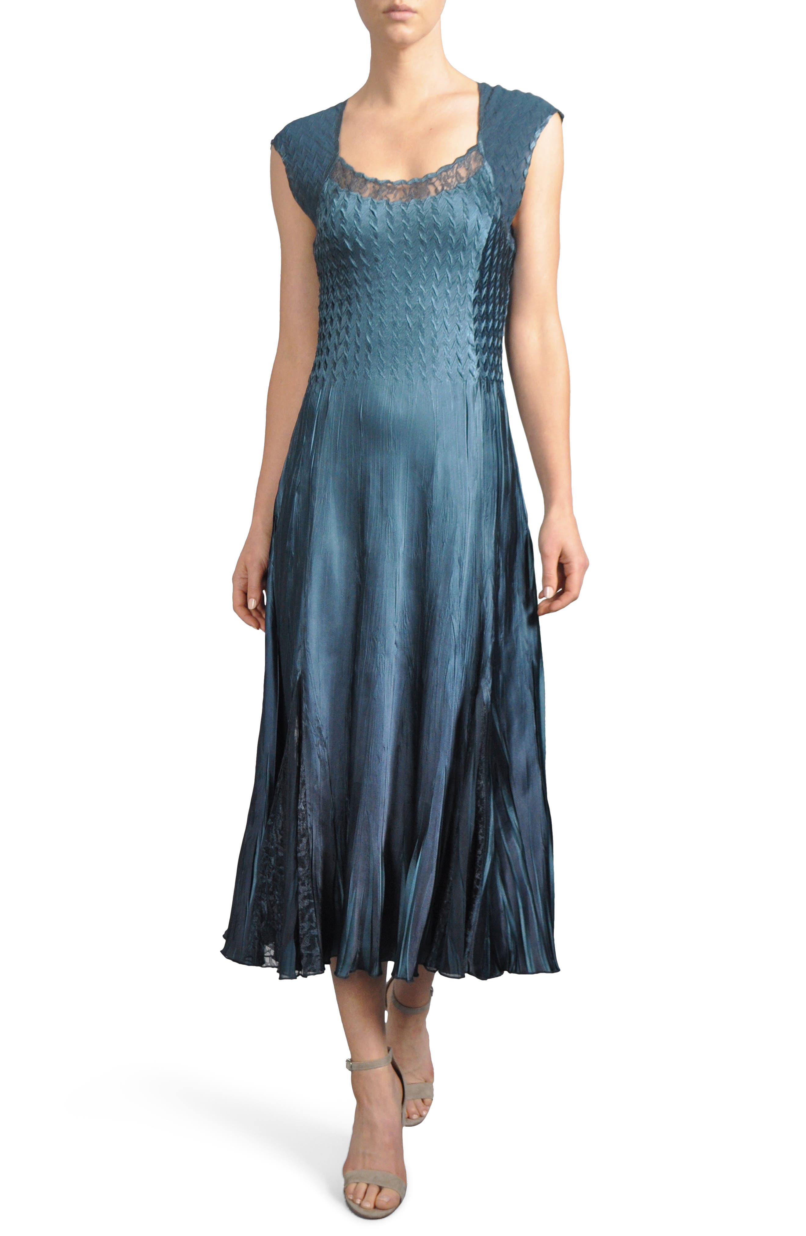 Lace Inset Midi Dress with Jacket,                             Alternate thumbnail 3, color,                             419