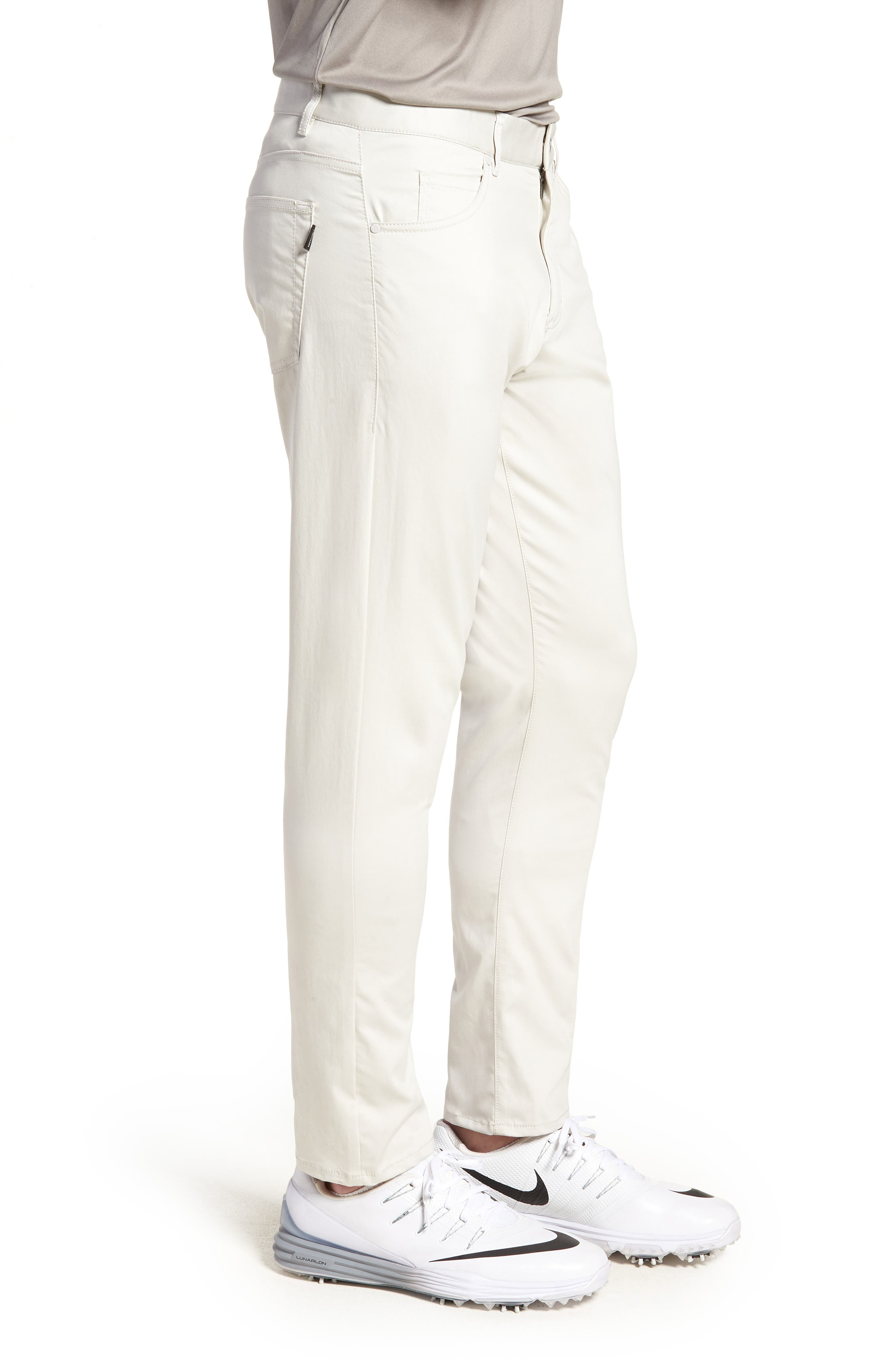 Dry Flex Slim Fit Golf Pants,                             Alternate thumbnail 3, color,                             LIGHT BONE/ WHITE